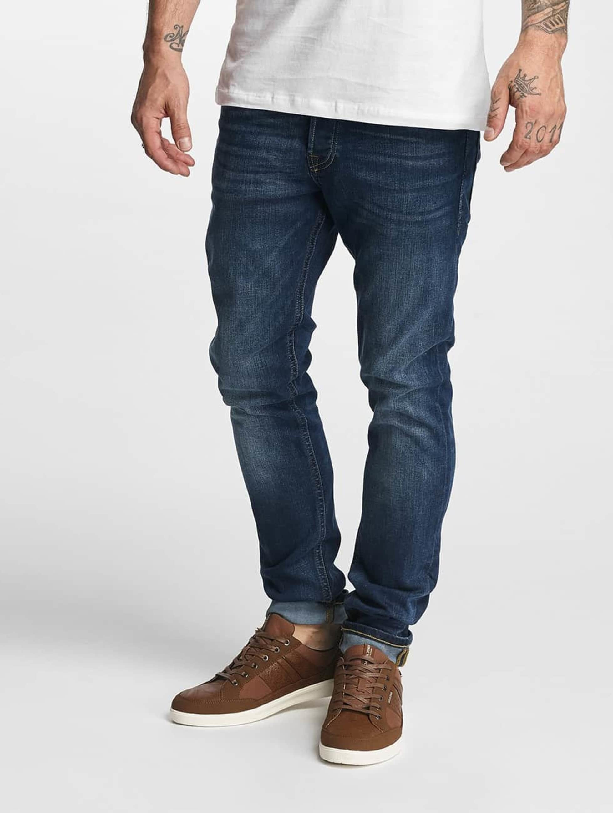 Jack & Jones Männer Skinny Jeans jjGlenn Original AM 431 in blau