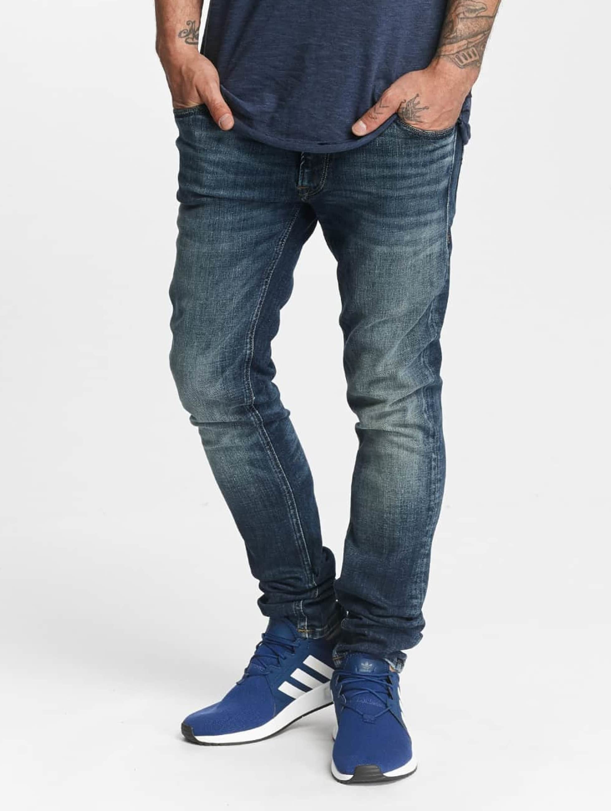 Jack & Jones Männer Skinny Jeans jjLiam Original JJ 019 in blau