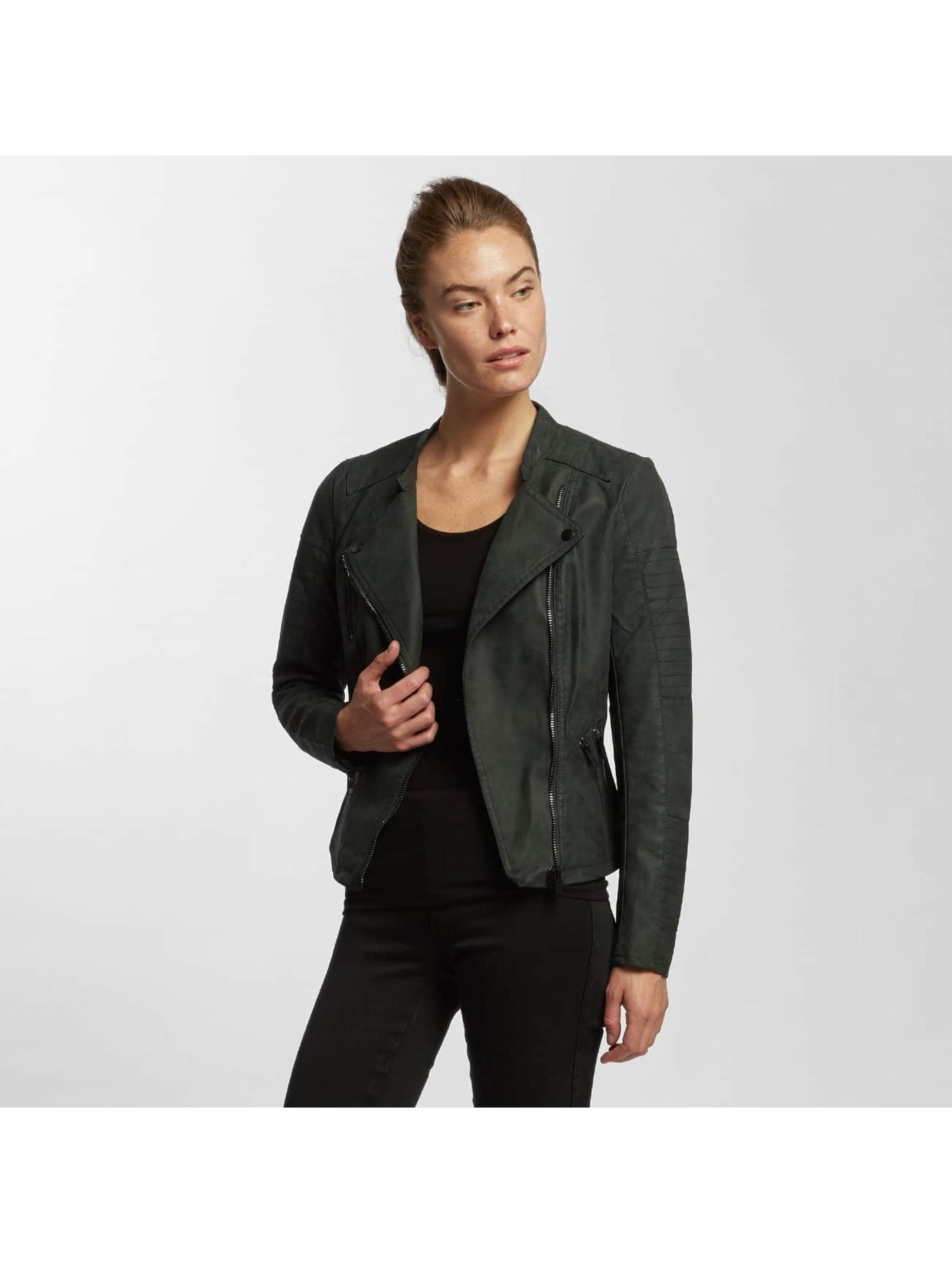 Only Frauen Lederjacke onlAva Faux Leather in schwarz