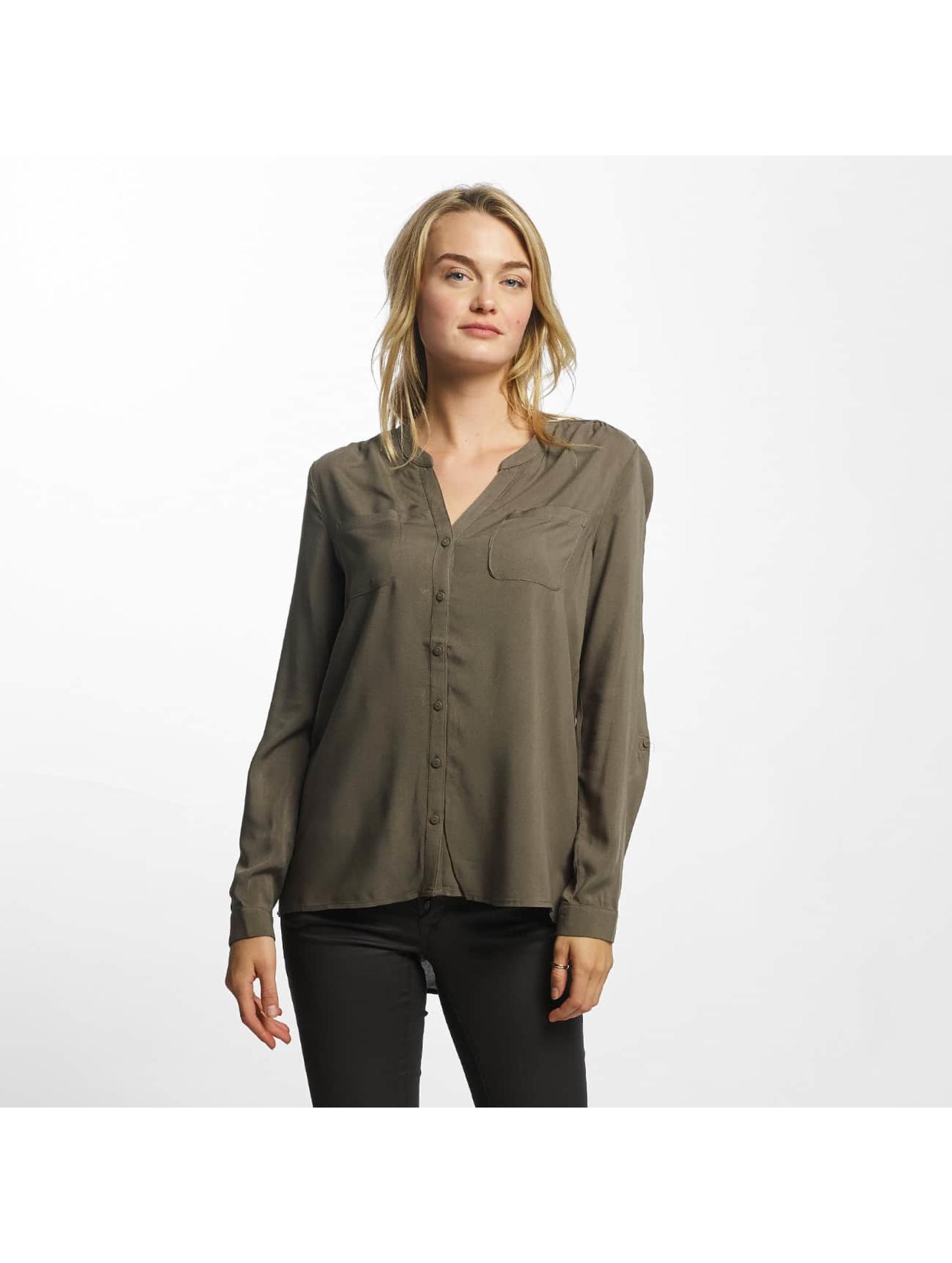 Only Frauen Bluse onlFirst Pocket in olive