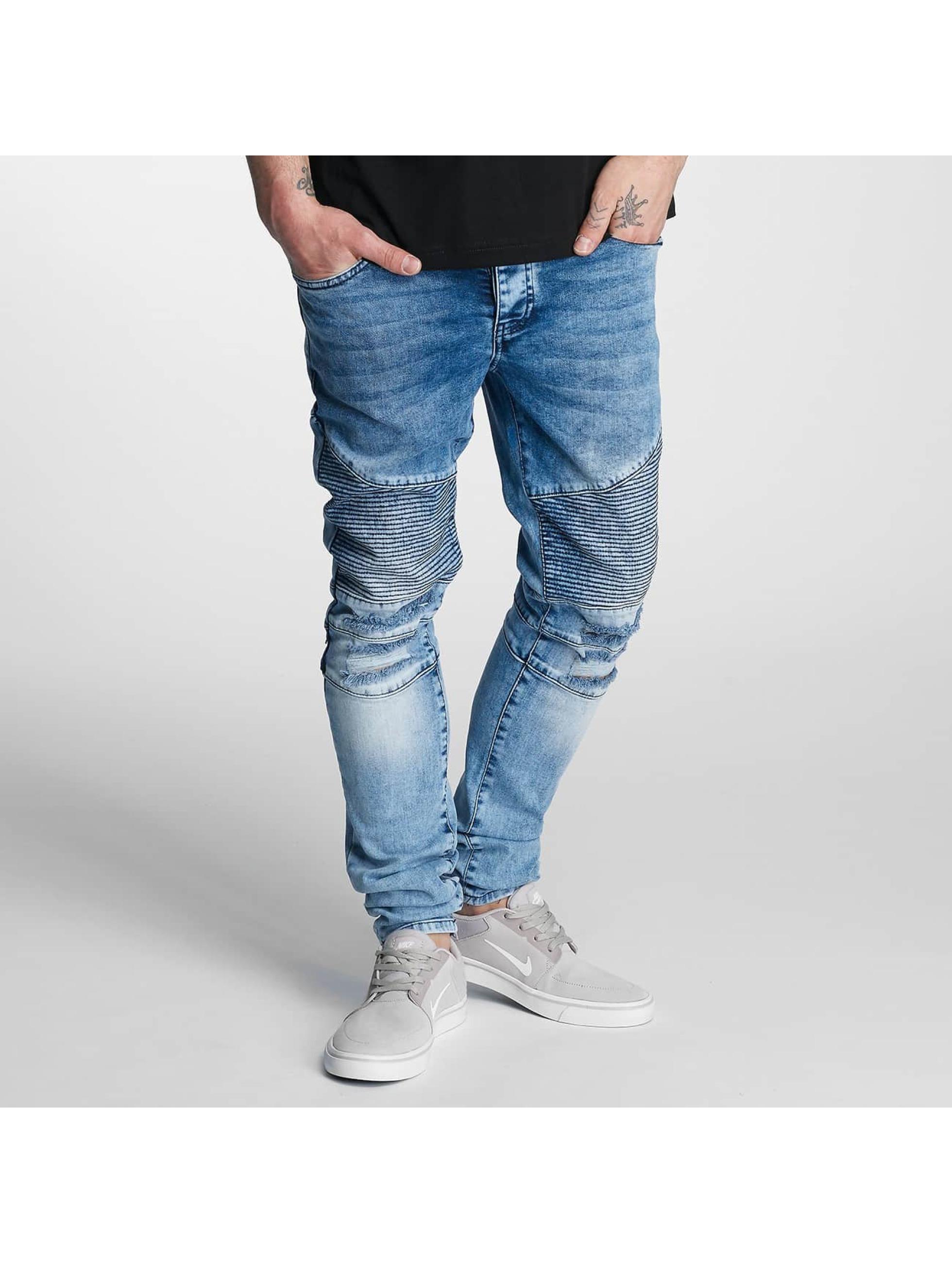 DEF Männer Skinny Jeans Hamza in blau