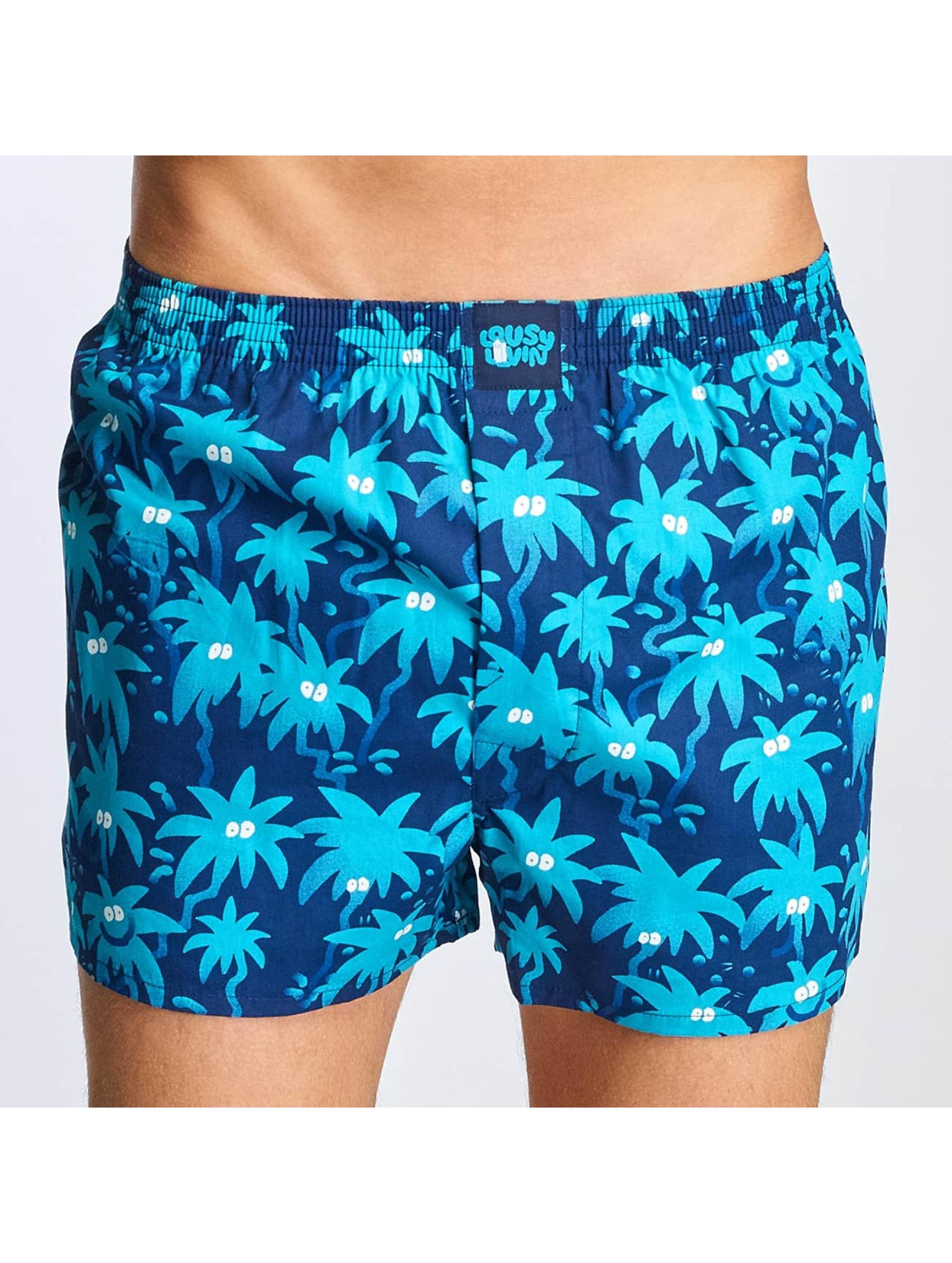 Lousy Livin Männer Boxershorts Palm in blau