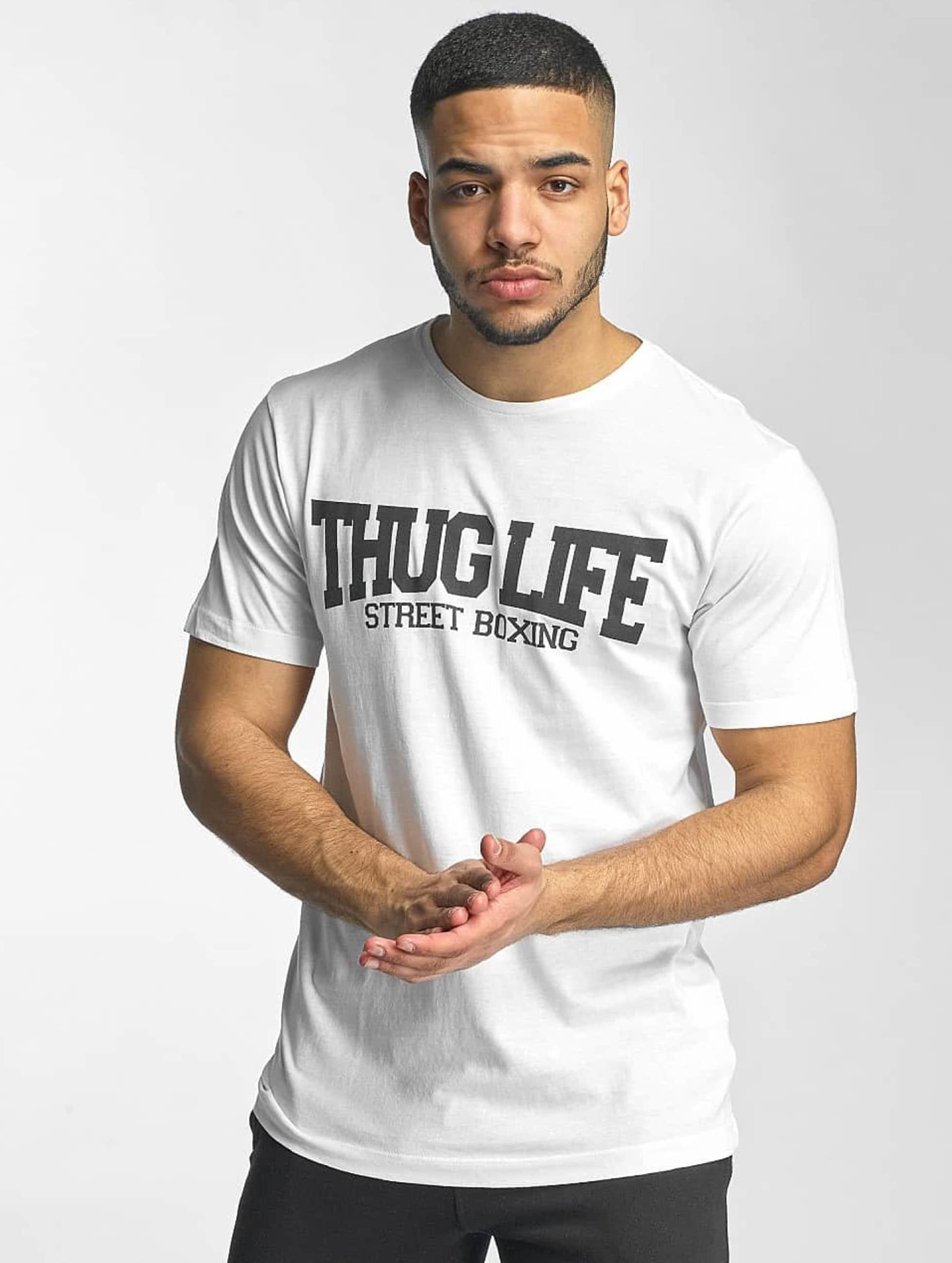 Thug Life Basic Männer T-Shirt Street Boxing in weiß