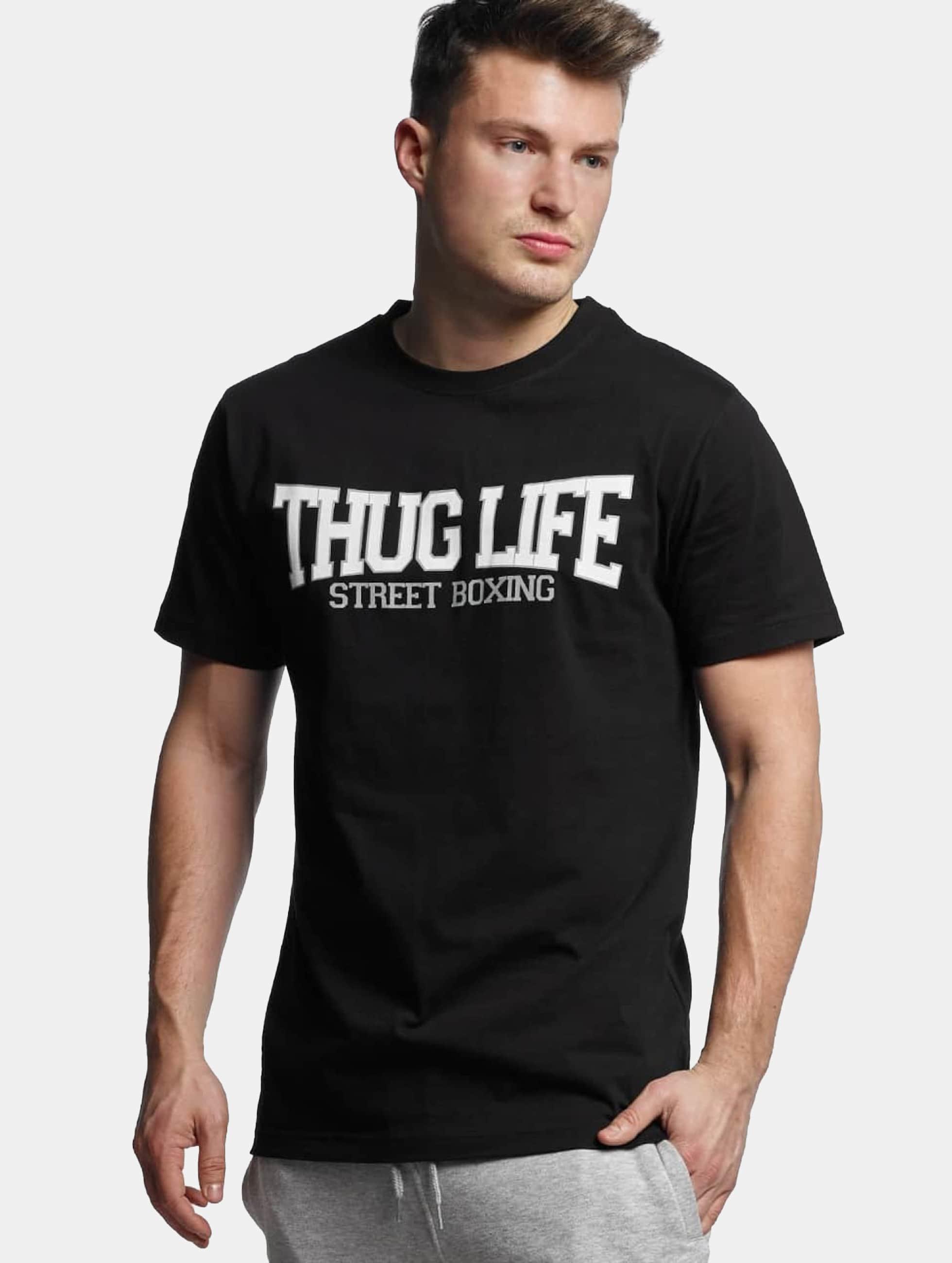 Thug Life Basic Männer T-Shirt Street Boxing in schwarz