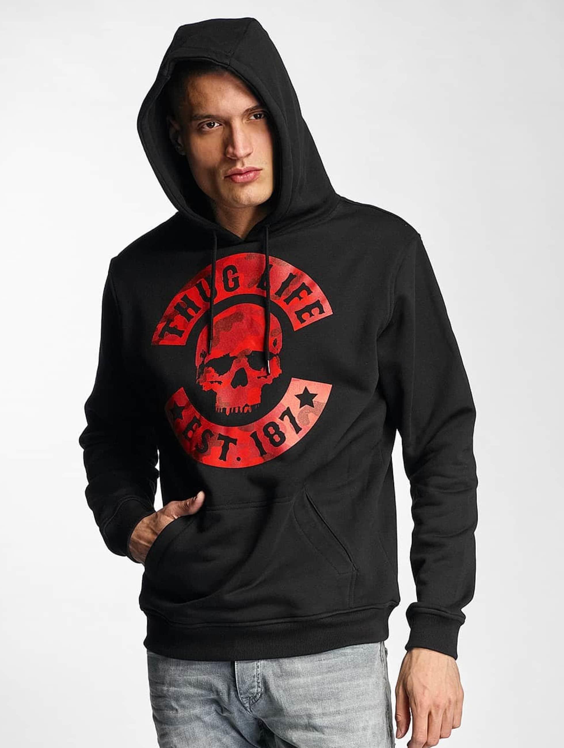 Thug Life Basic Männer Hoody Camo in schwarz