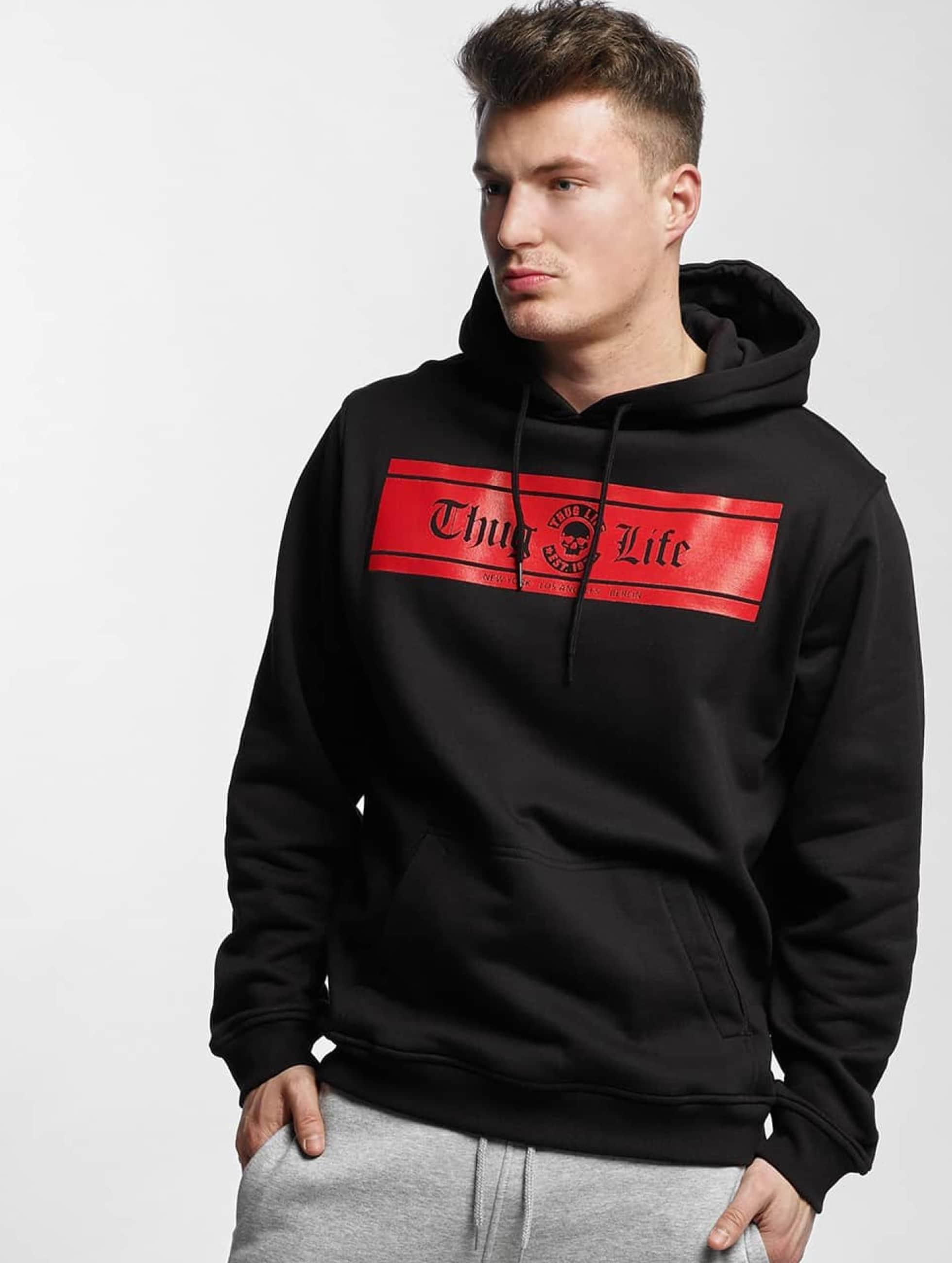 Thug Life Basic Männer Hoody Box Logo in schwarz