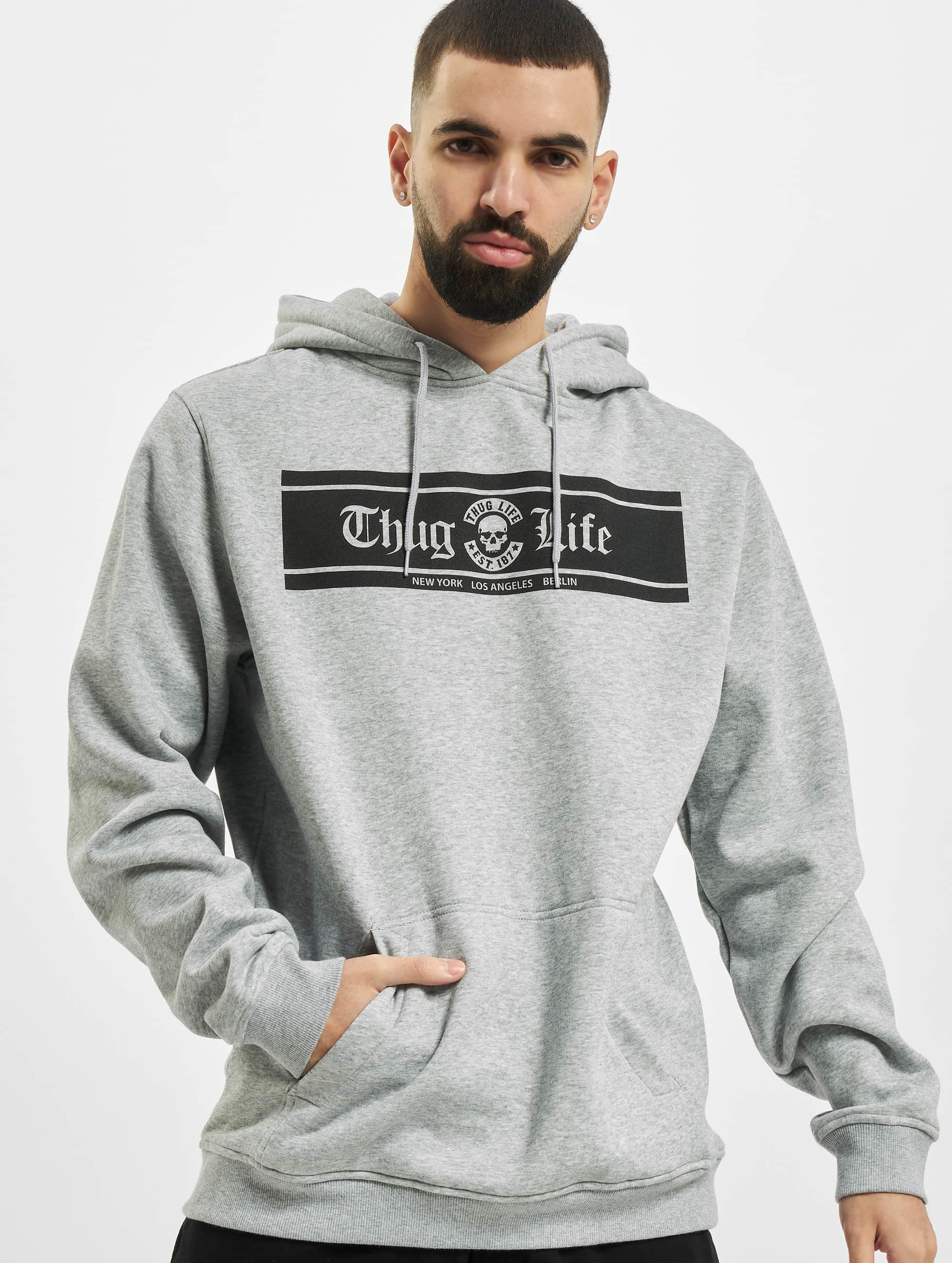 Thug Life Basic Männer Hoody Life Box in grau