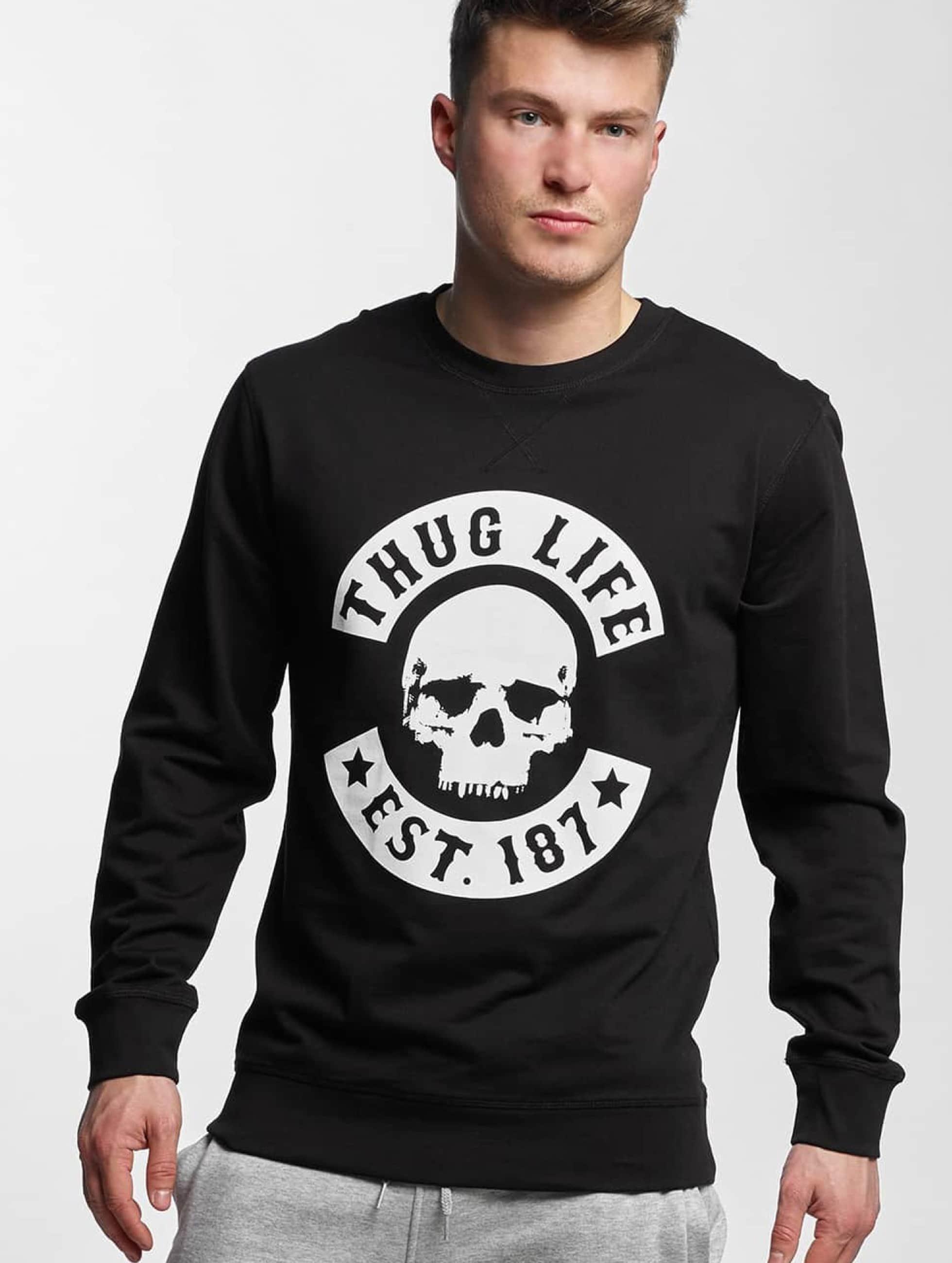 Thug Life Basic Männer Pullover Skull in schwarz