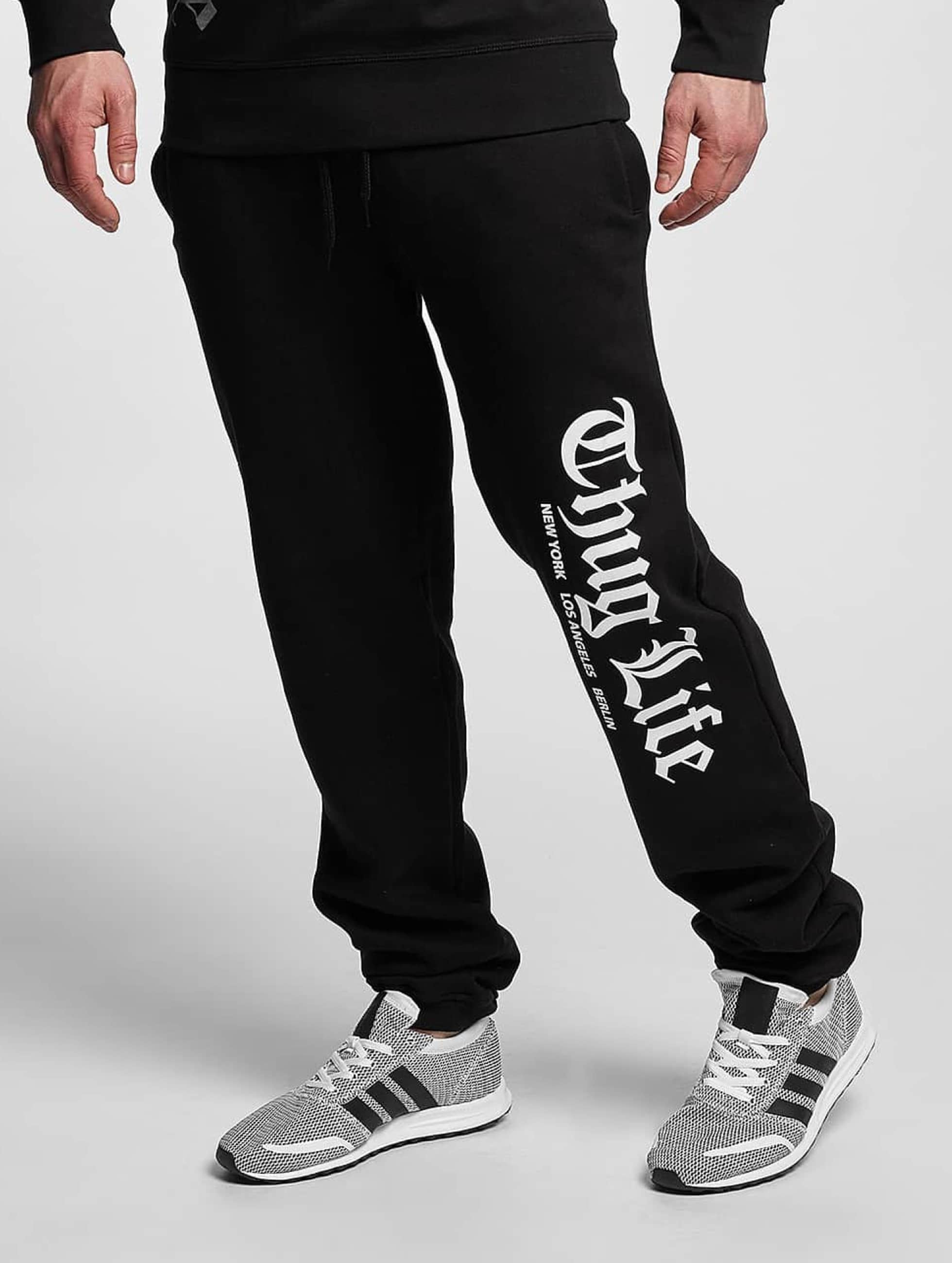 Thug Life Basic Männer Jogginghose Cities in schwarz