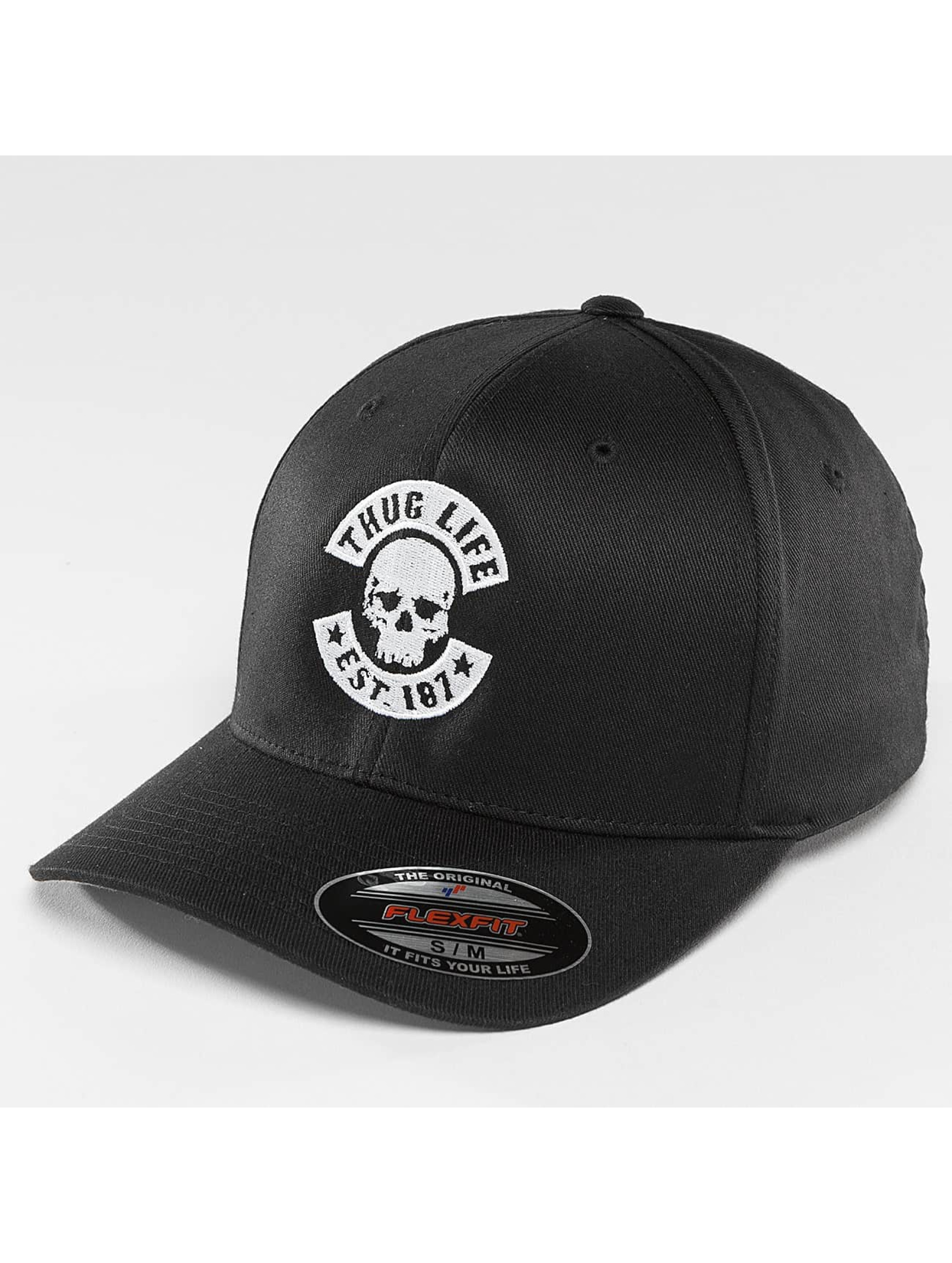 Thug Life Basic Männer Flexfitted Cap Basic Skull Flexfit in schwarz