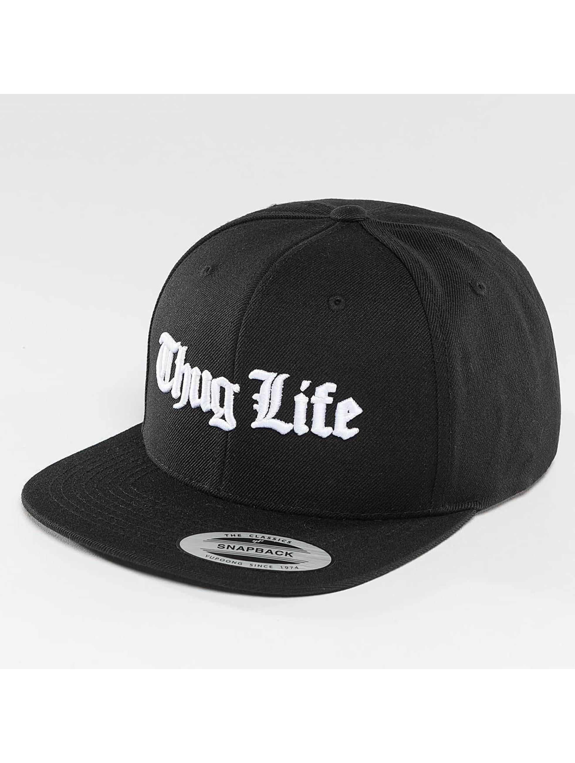 Thug Life Basic Männer Snapback Cap Basic Old English in schwarz