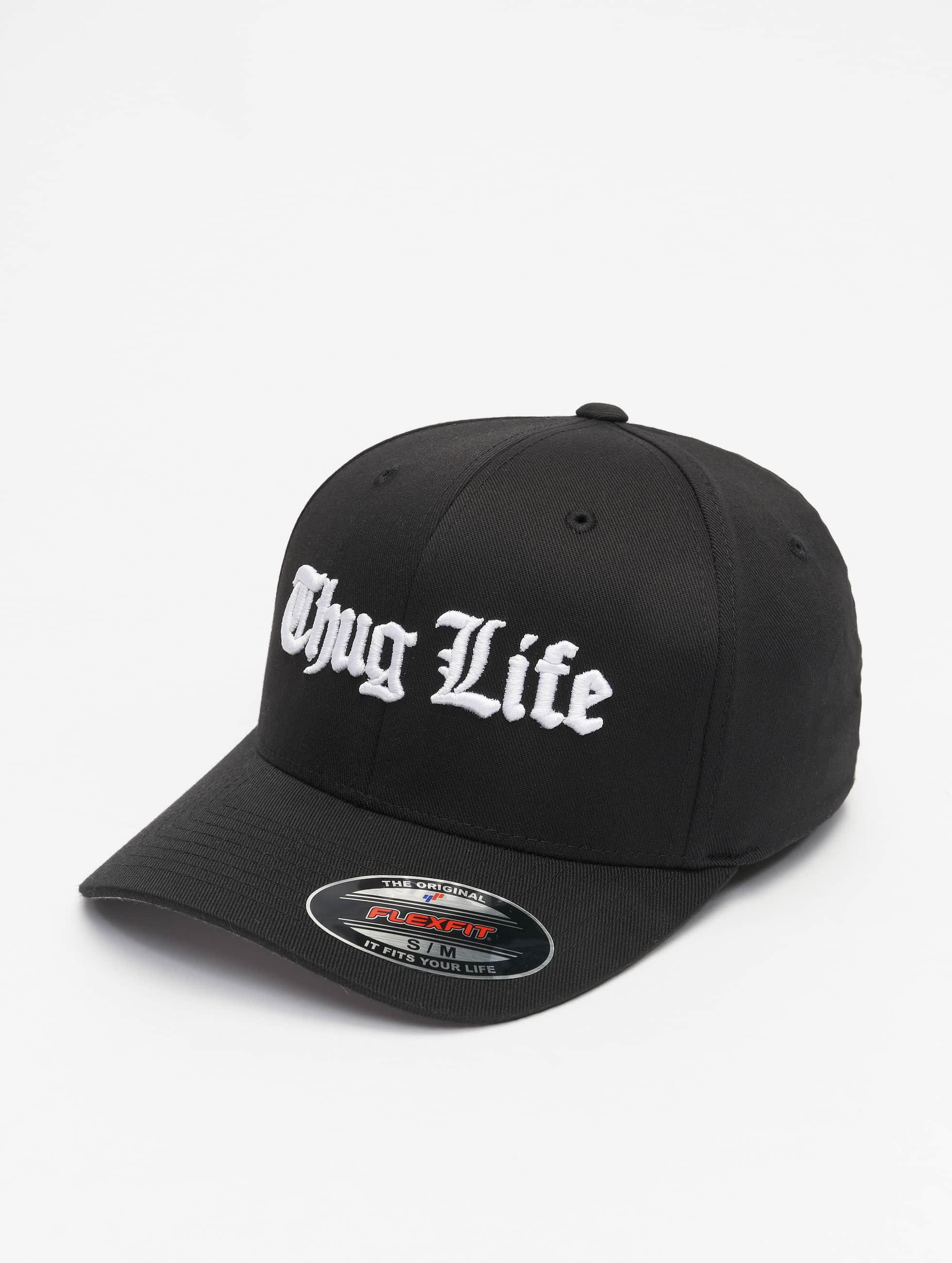 Thug Life Basic Männer Flexfitted Cap Basic Old English in schwarz