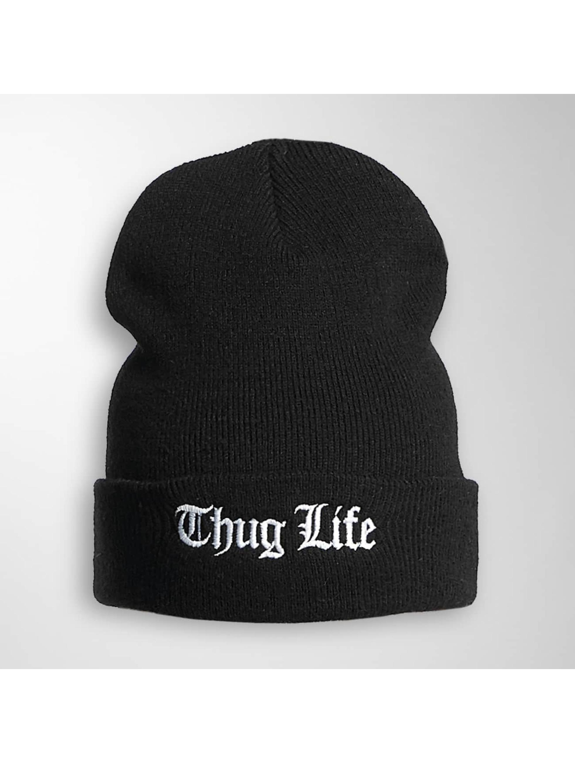 Thug Life Basic Männer,Frauen Beanie Basic Old Englisch in schwarz