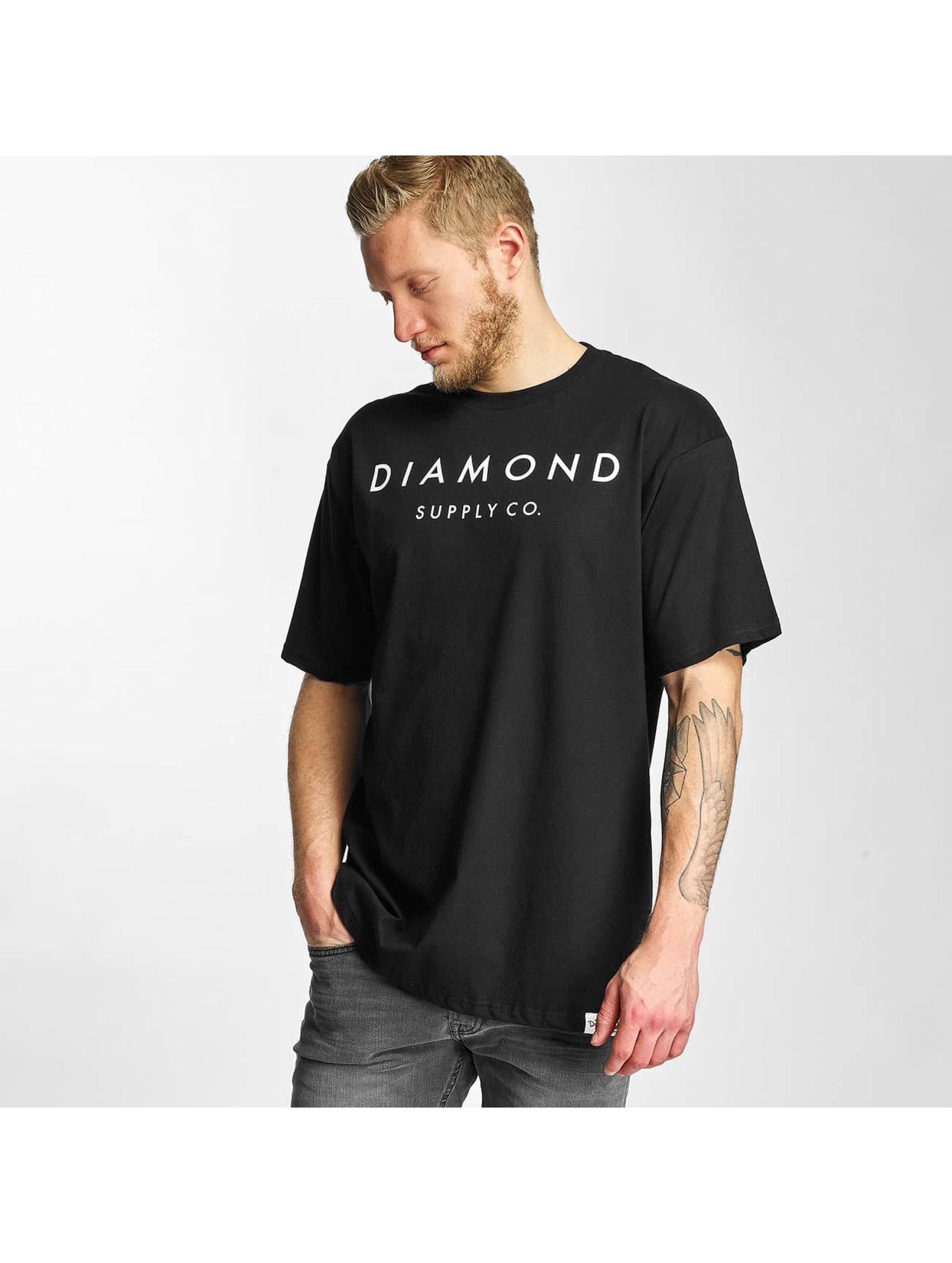 Diamond Männer T-Shirt Diamond Stone Cut in schwarz