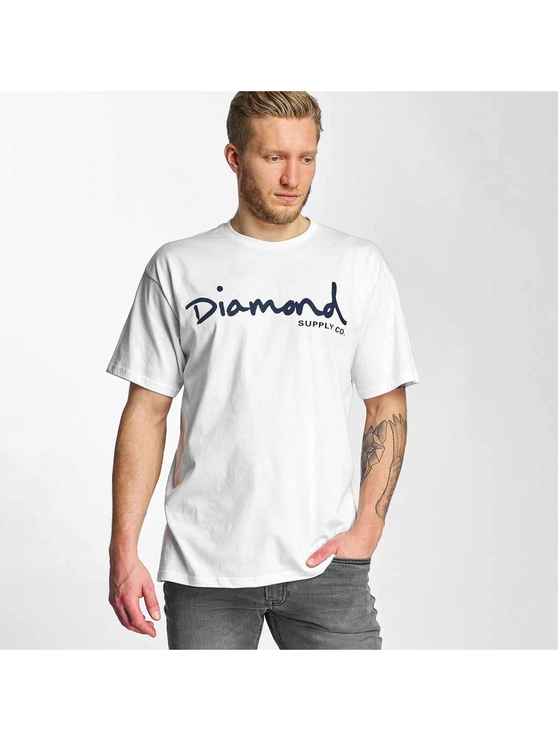 Diamond Männer T-Shirt OG Script in weiß