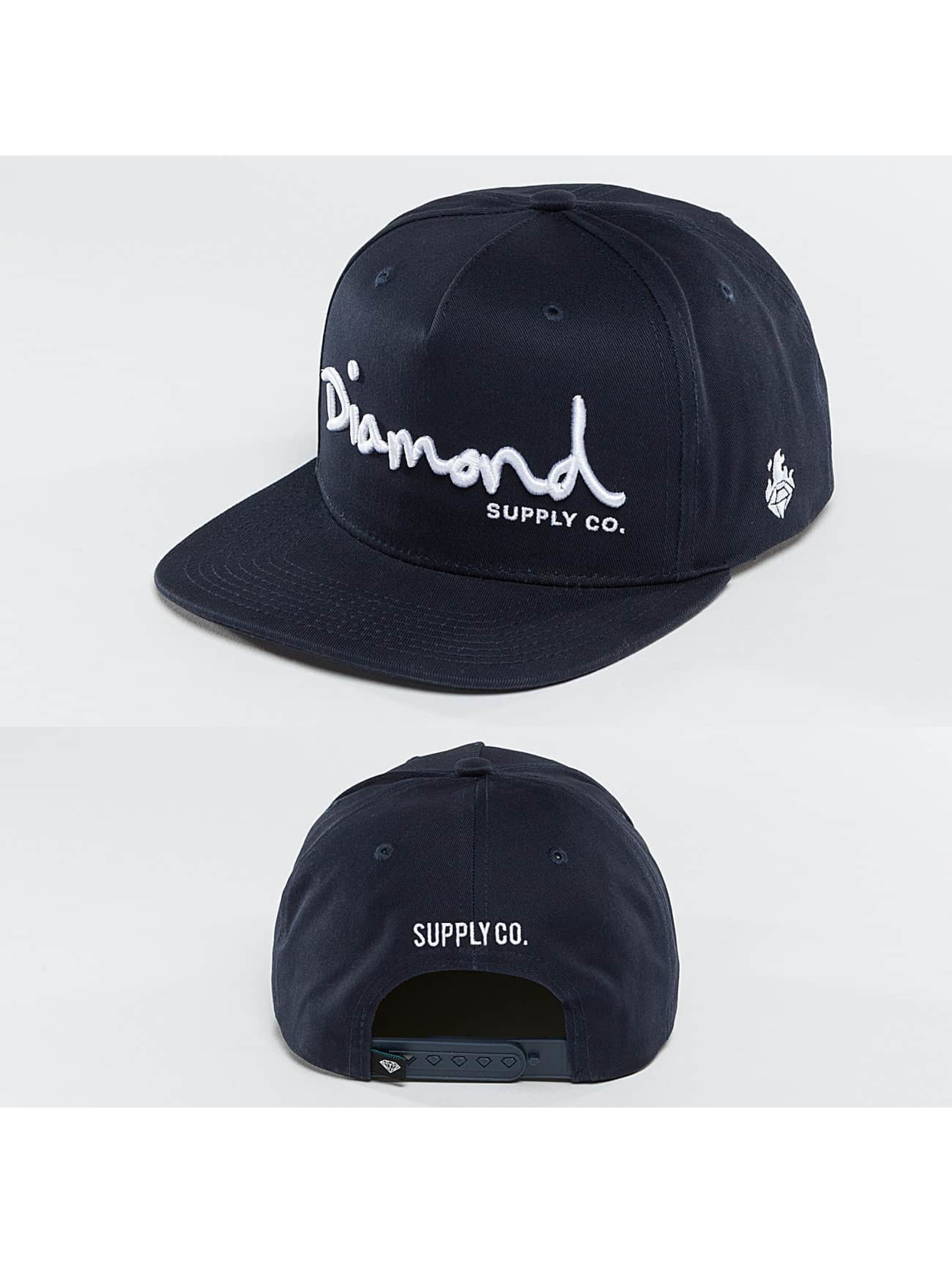 Diamond Männer,Frauen Snapback Cap OG Script in blau