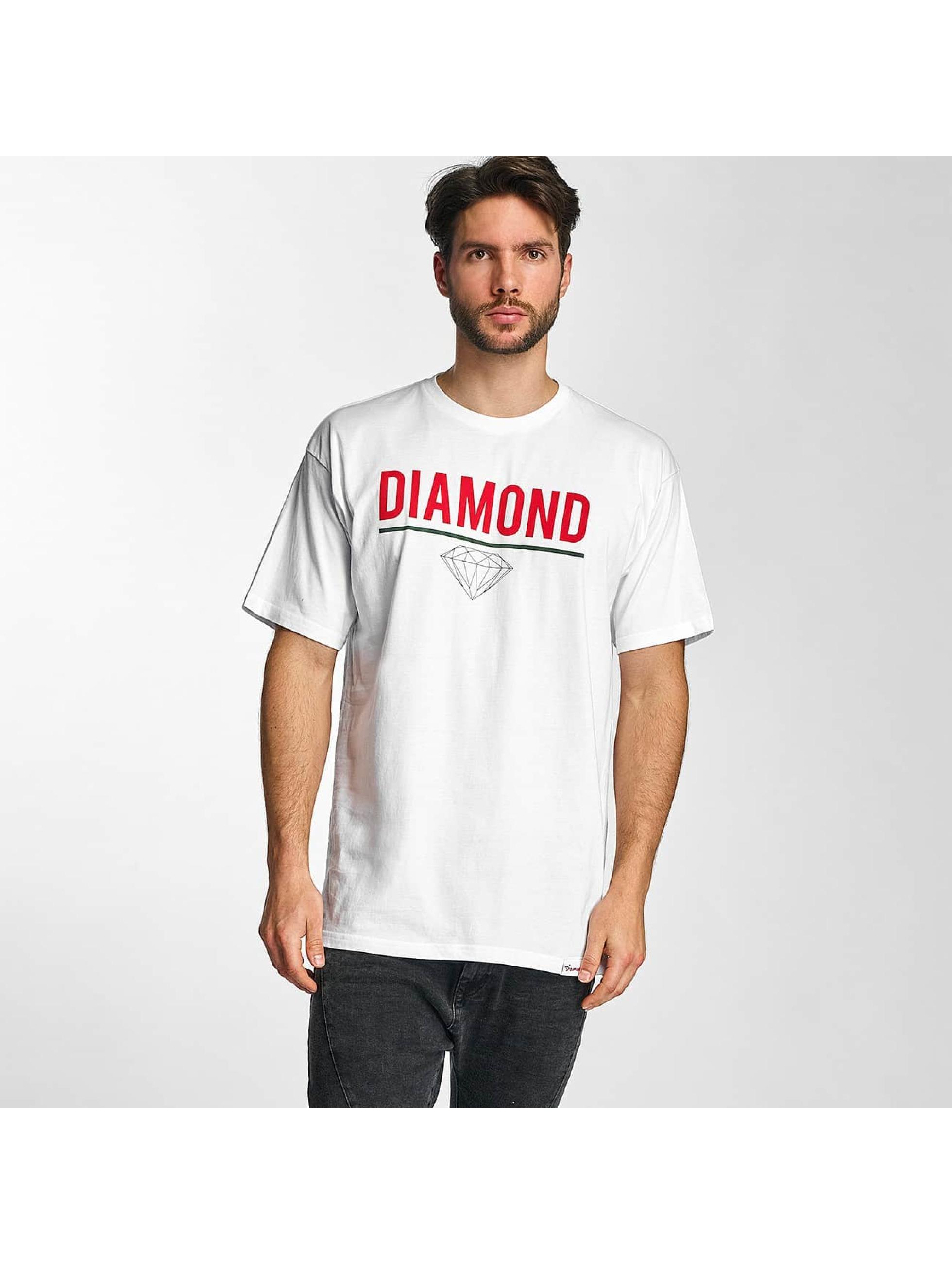 Diamond Männer T-Shirt Strike in weiß