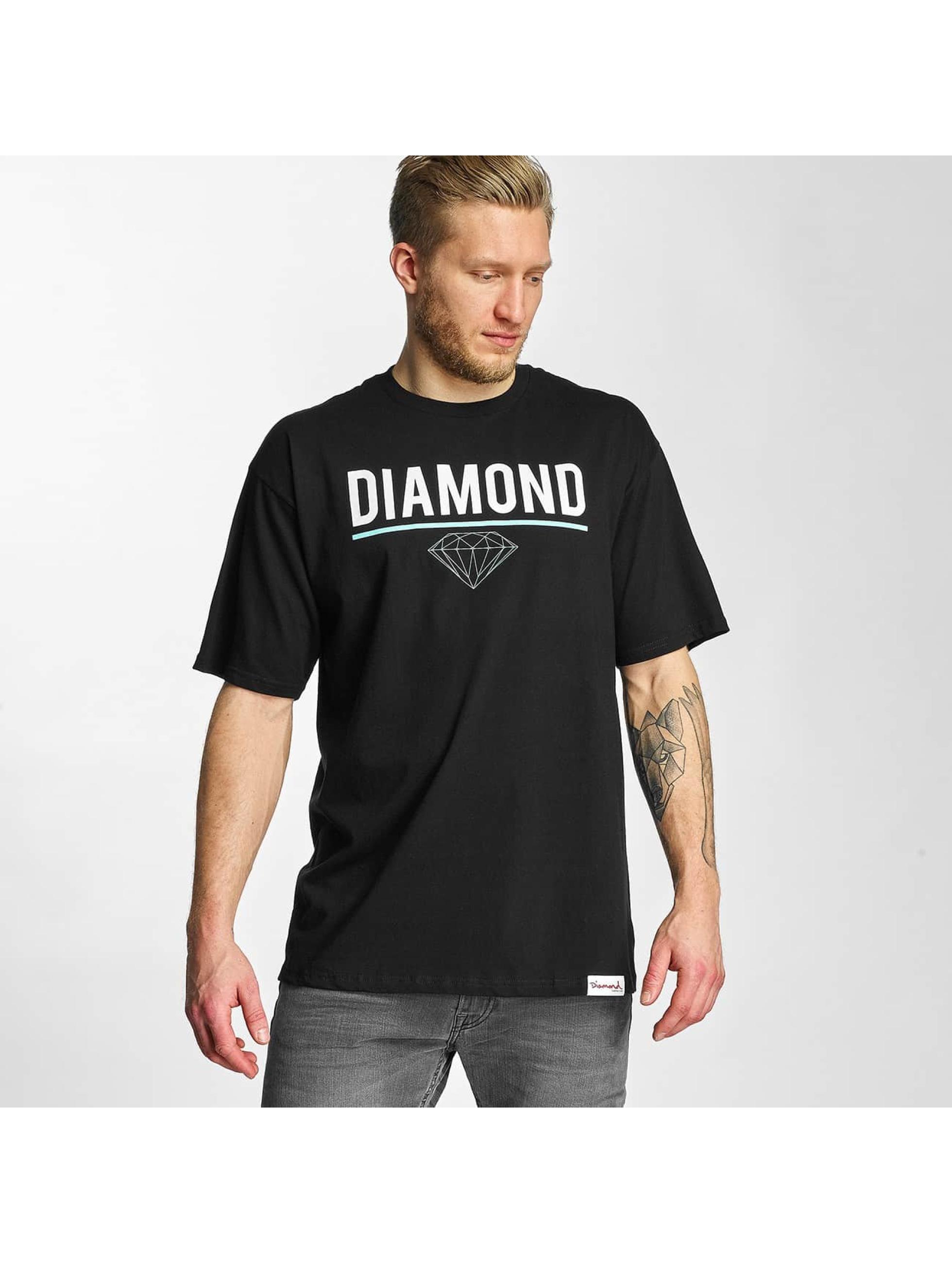 Diamond Männer T-Shirt Strike in schwarz