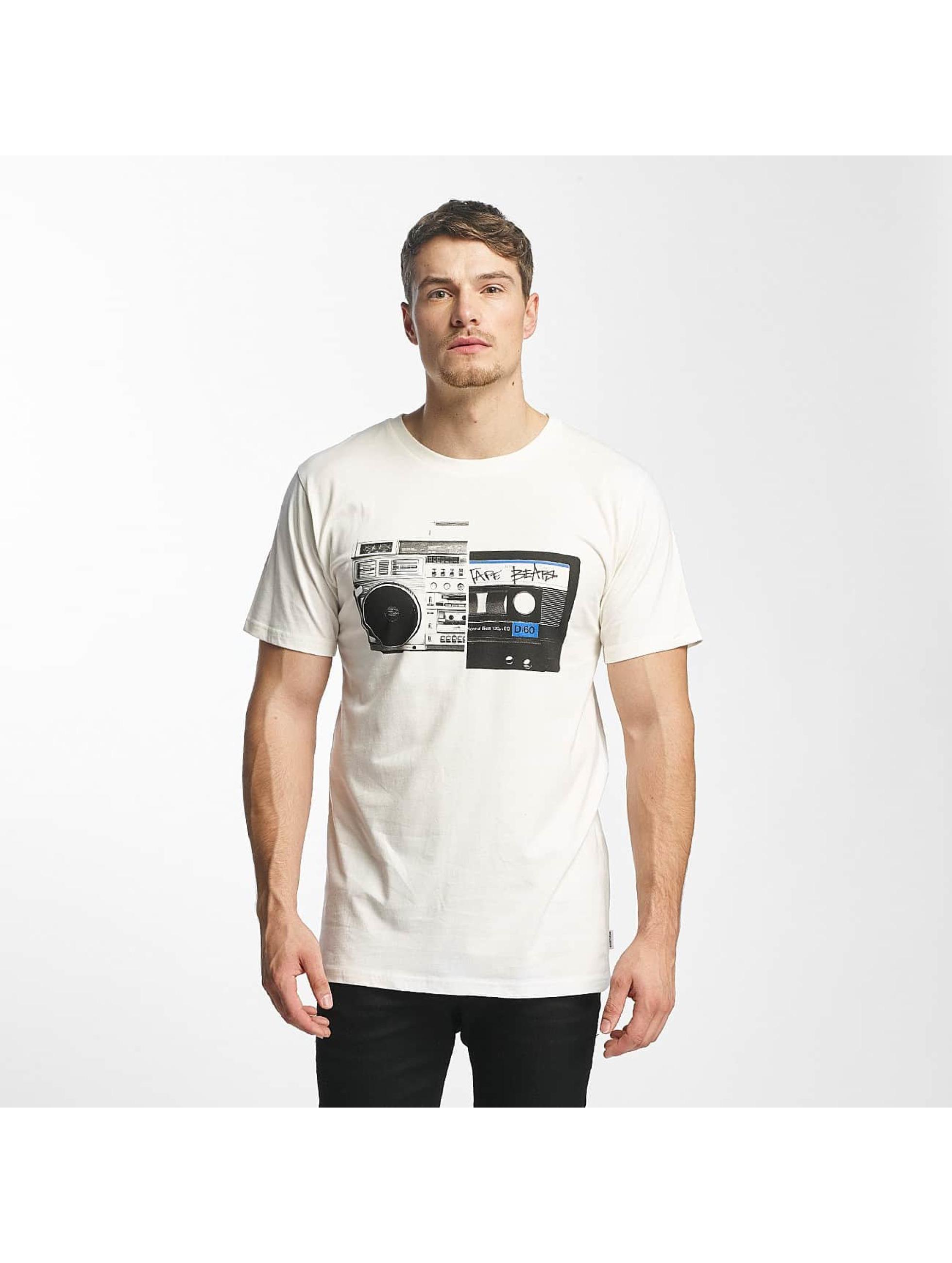 DEDICATED Männer T-Shirt Tape Split in weiß