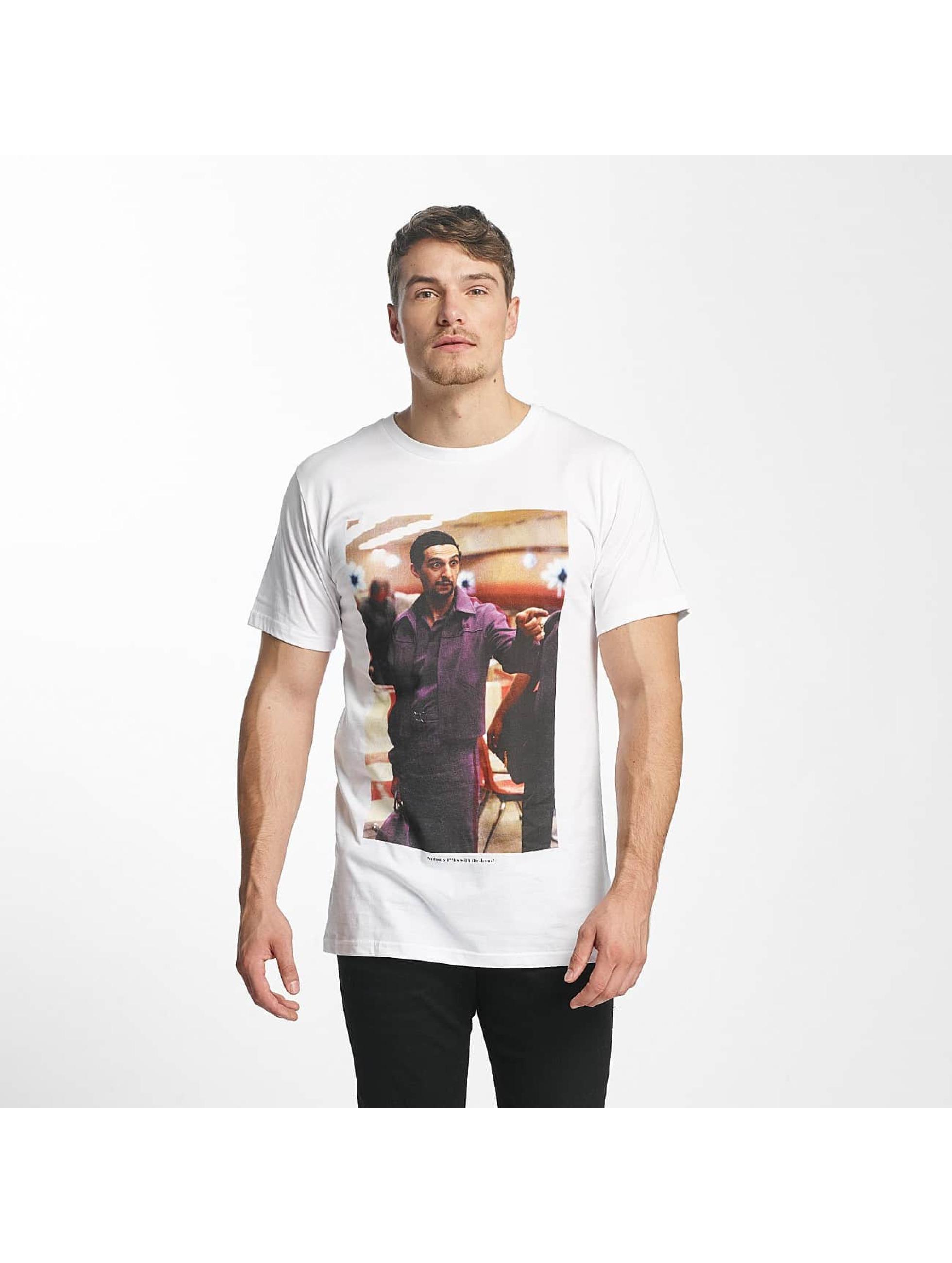 DEDICATED Männer T-Shirt Jesus in weiß