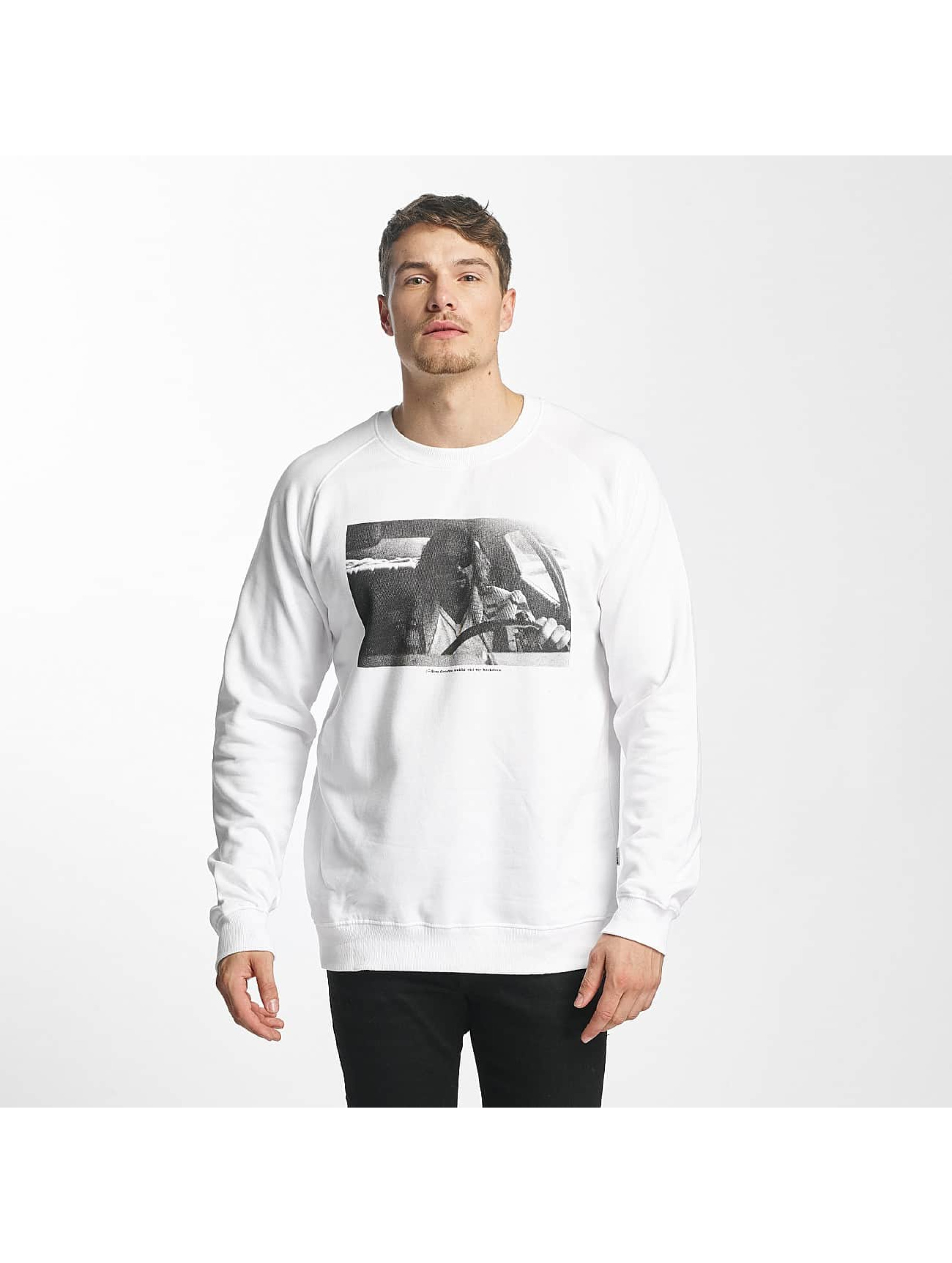 DEDICATED Männer Pullover Car Crash in weiß