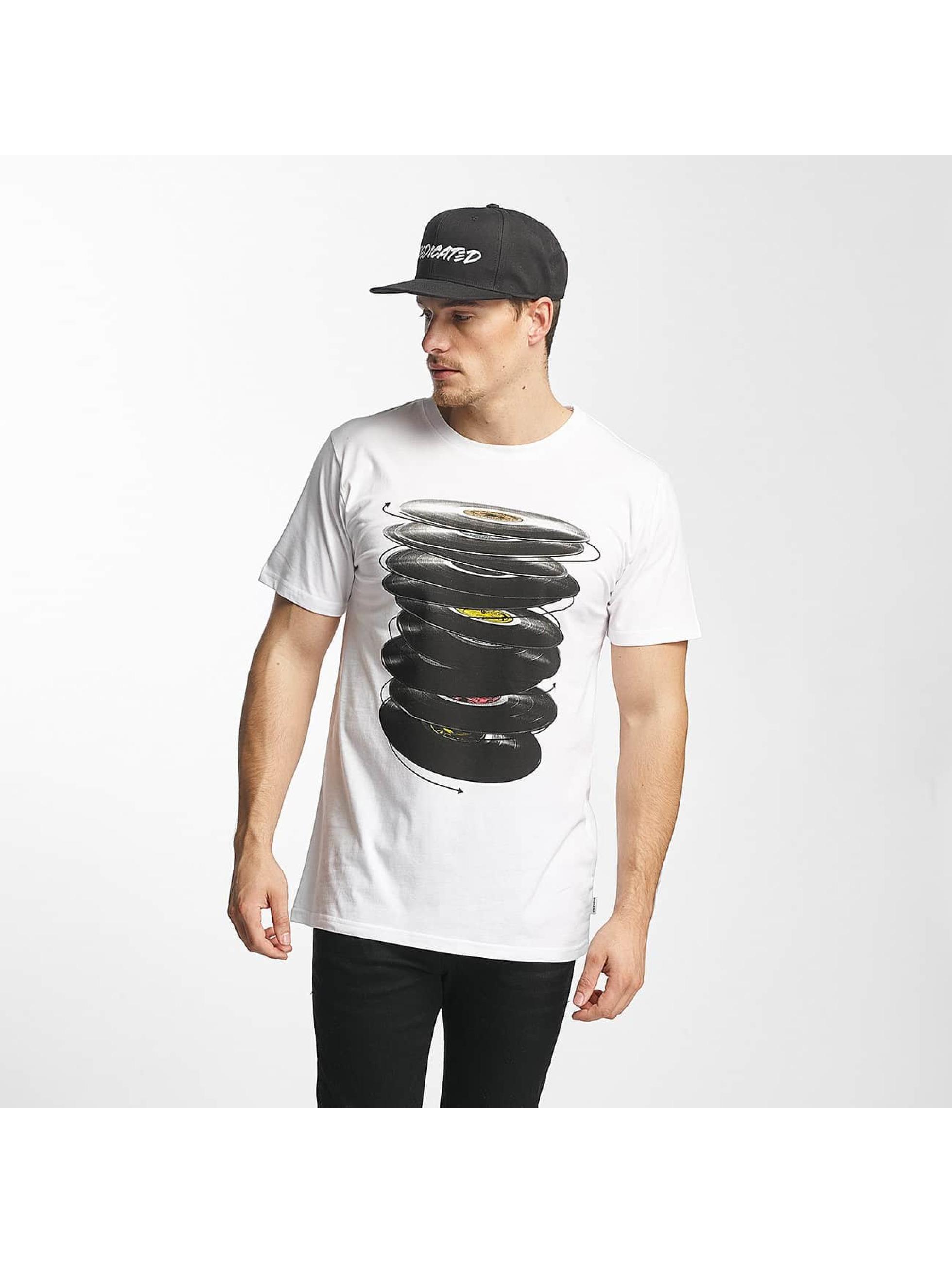 DEDICATED Männer T-Shirt Vinyl Spin in weiß