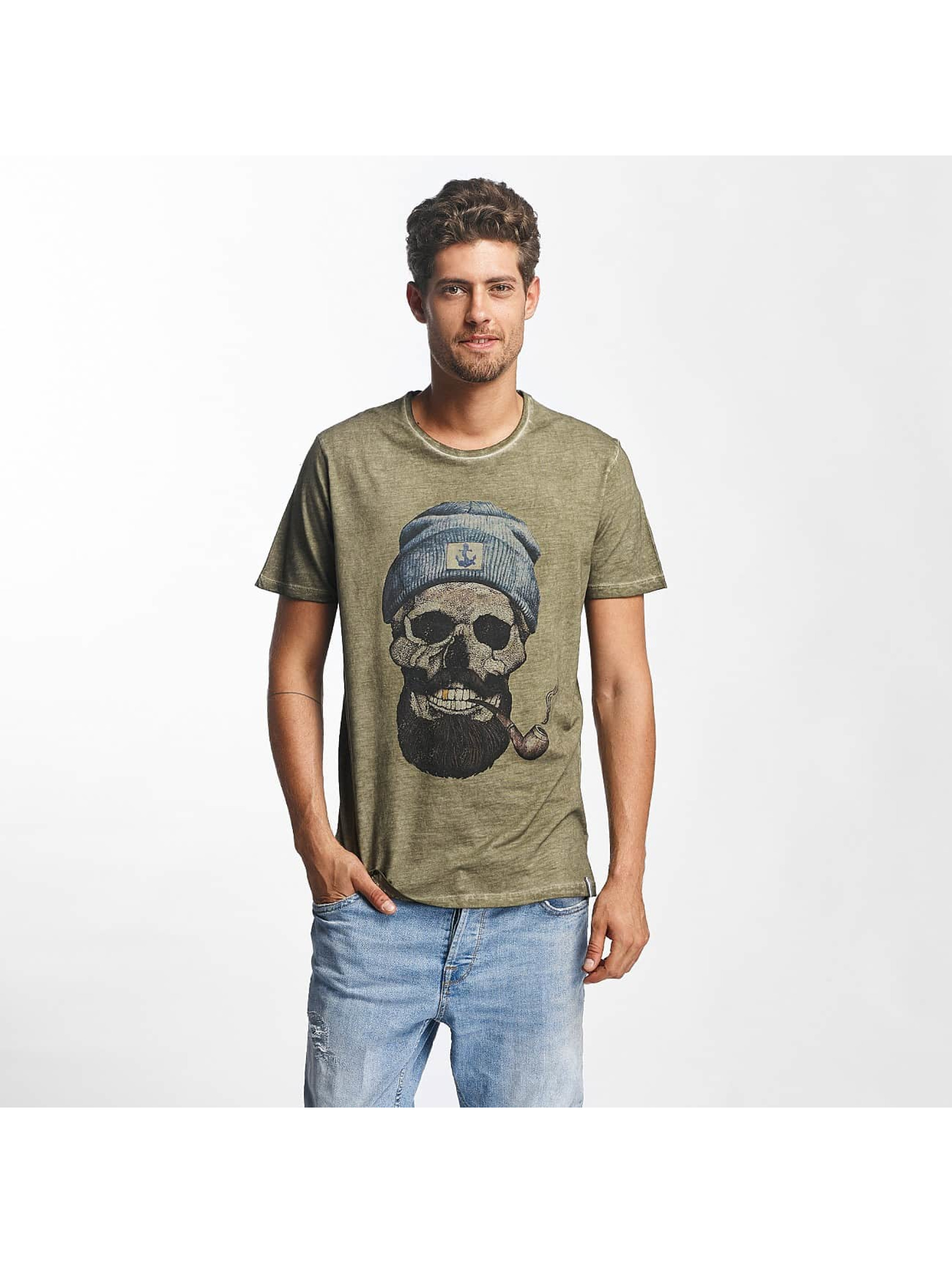French Kick Männer T-Shirt Barbus Bro in khaki