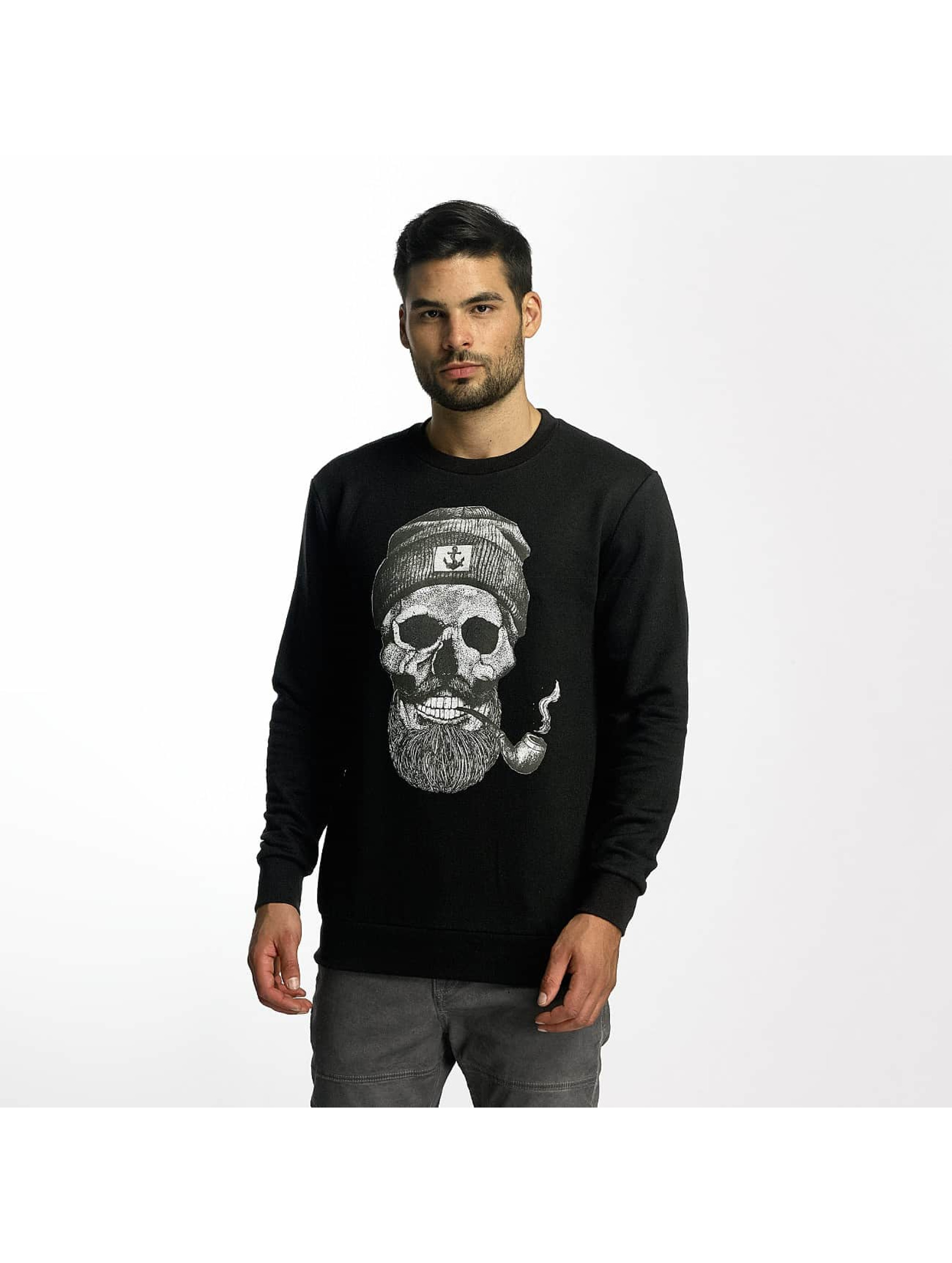 French Kick Männer Pullover Grand Barbu in schwarz