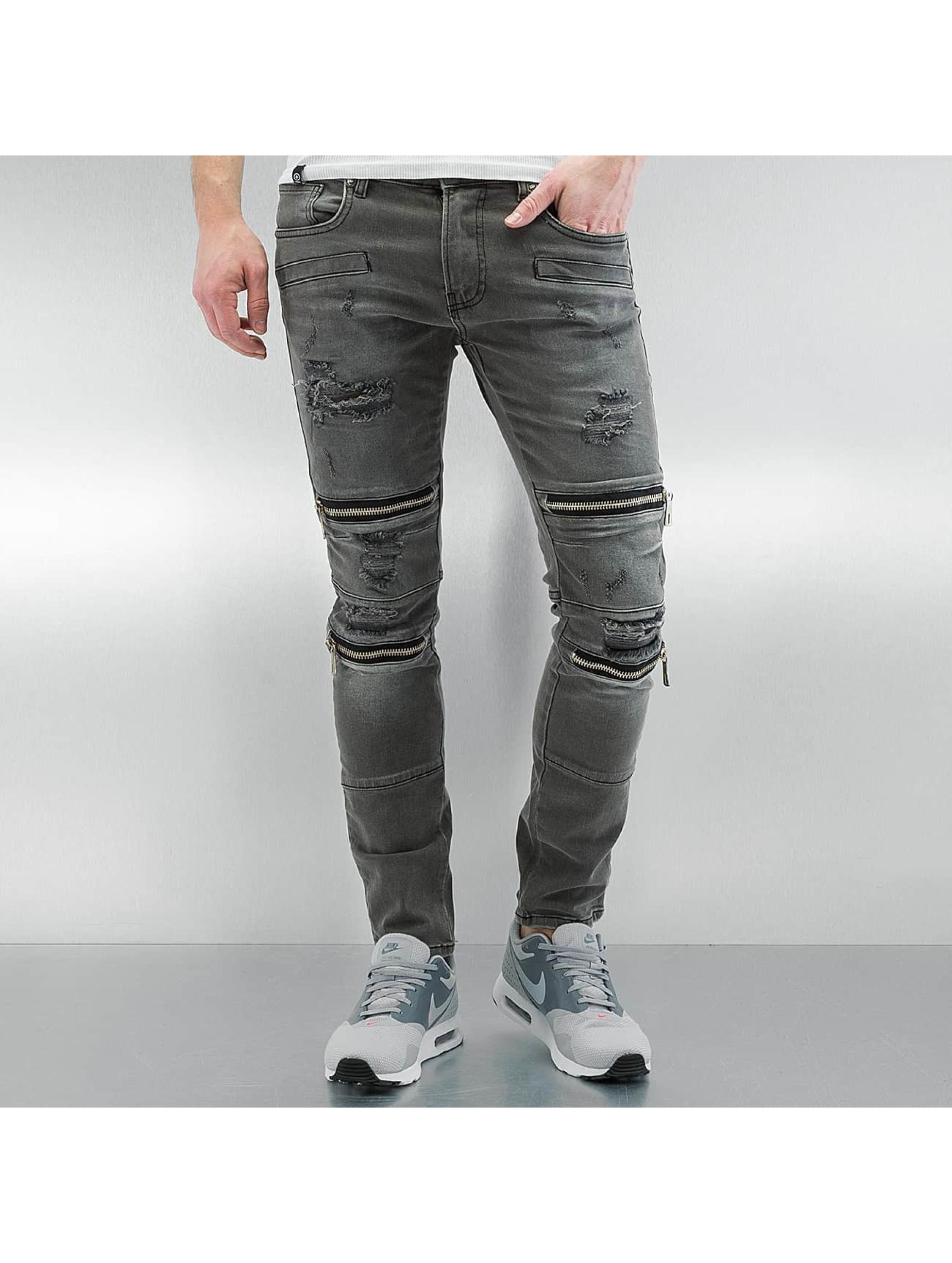 2Y Männer Skinny Jeans Braga in grau