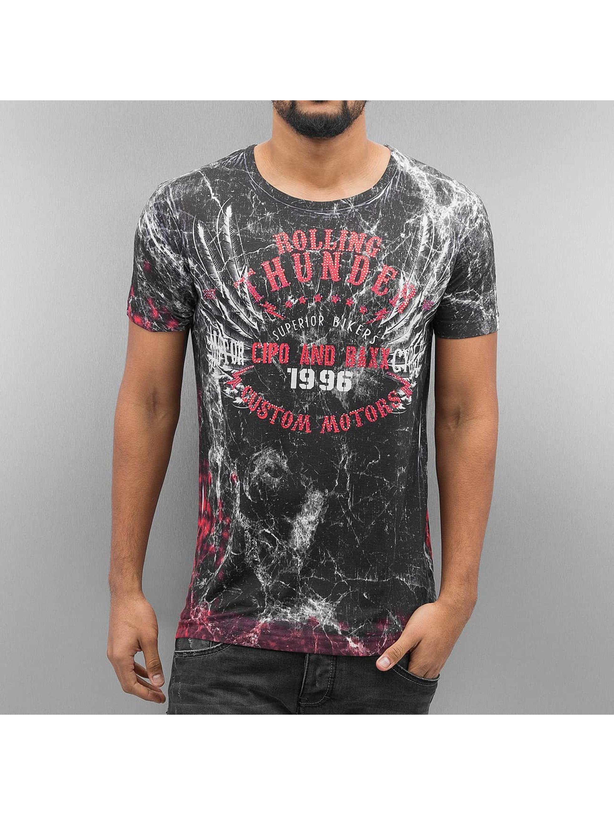 Cipo & Baxx Männer T-Shirt Rolling Thunder in schwarz