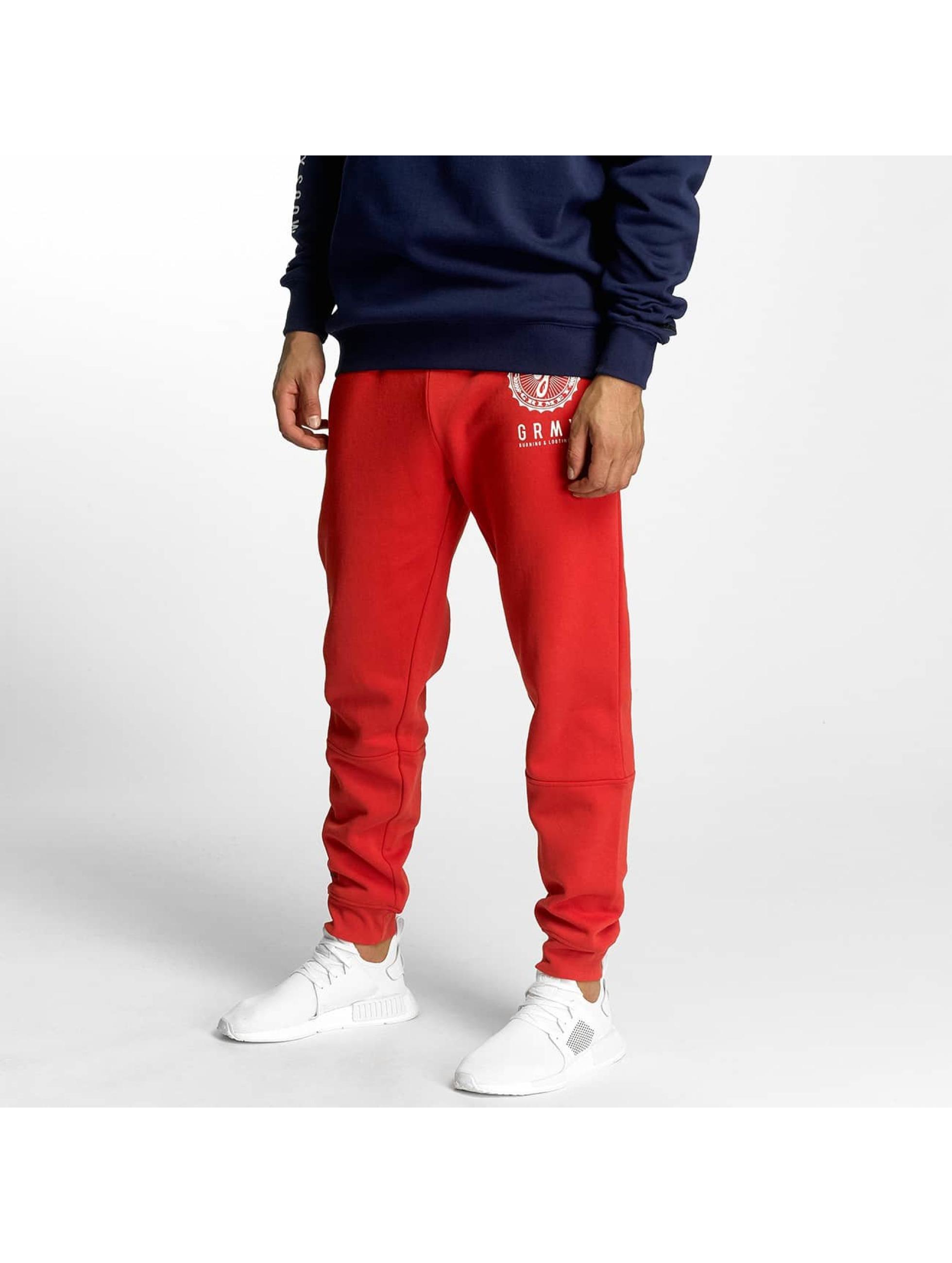 Grimey Wear Männer Jogginghose Core in rot - broschei