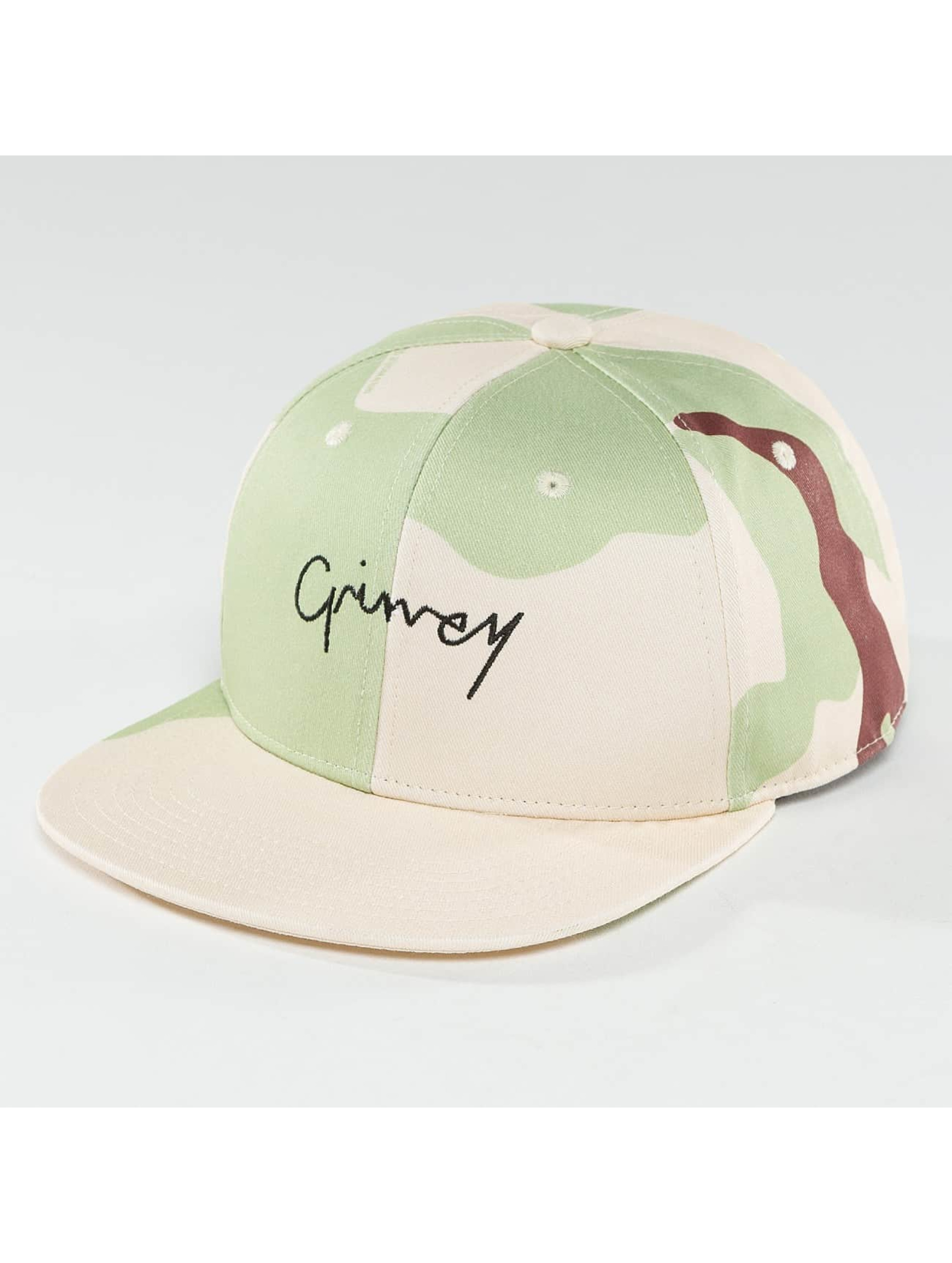 Grimey Wear Männer Snapback Cap Natural Camo in camouflage