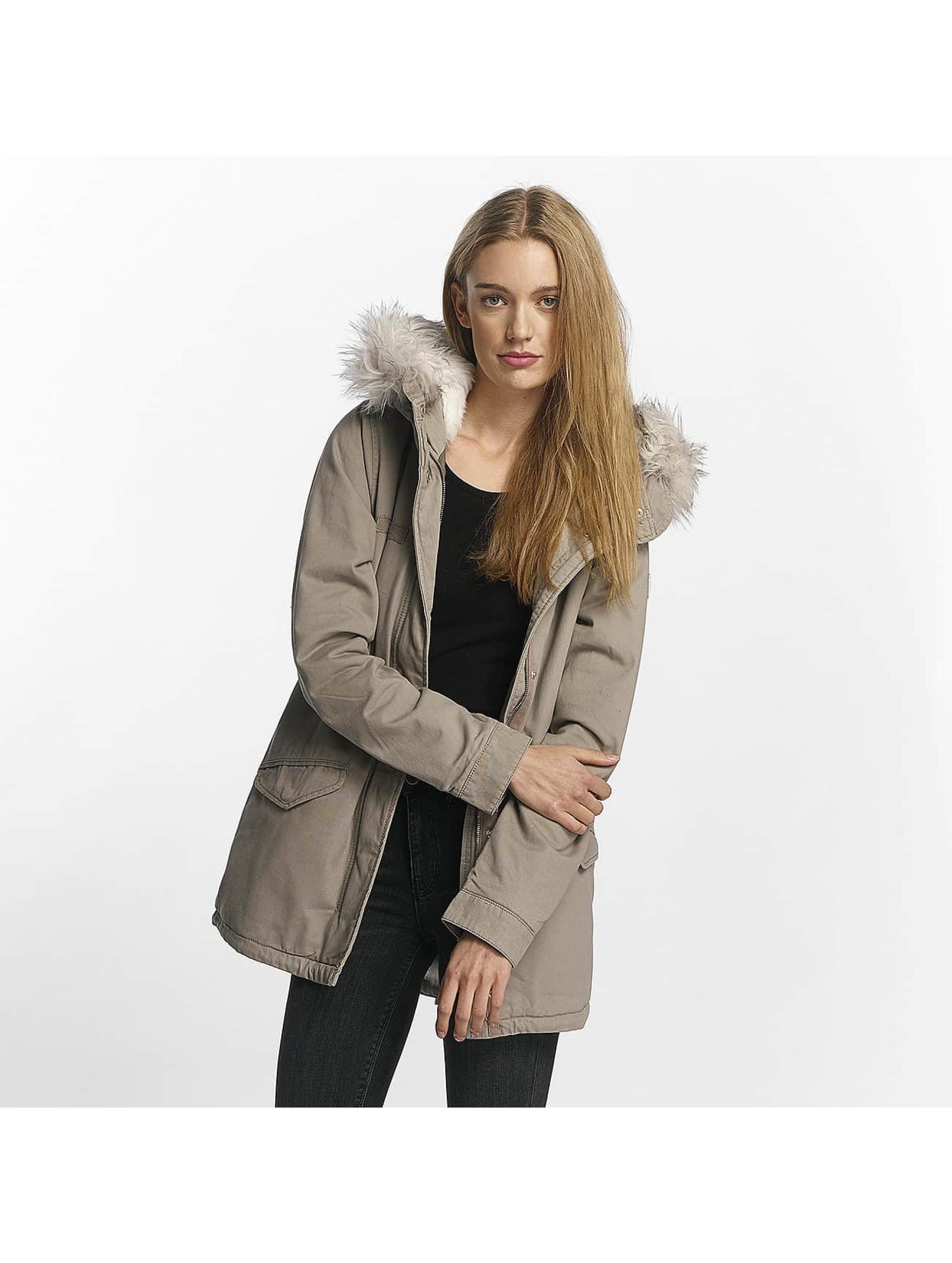 Only Frauen Winterjacke onlDanielle in grau