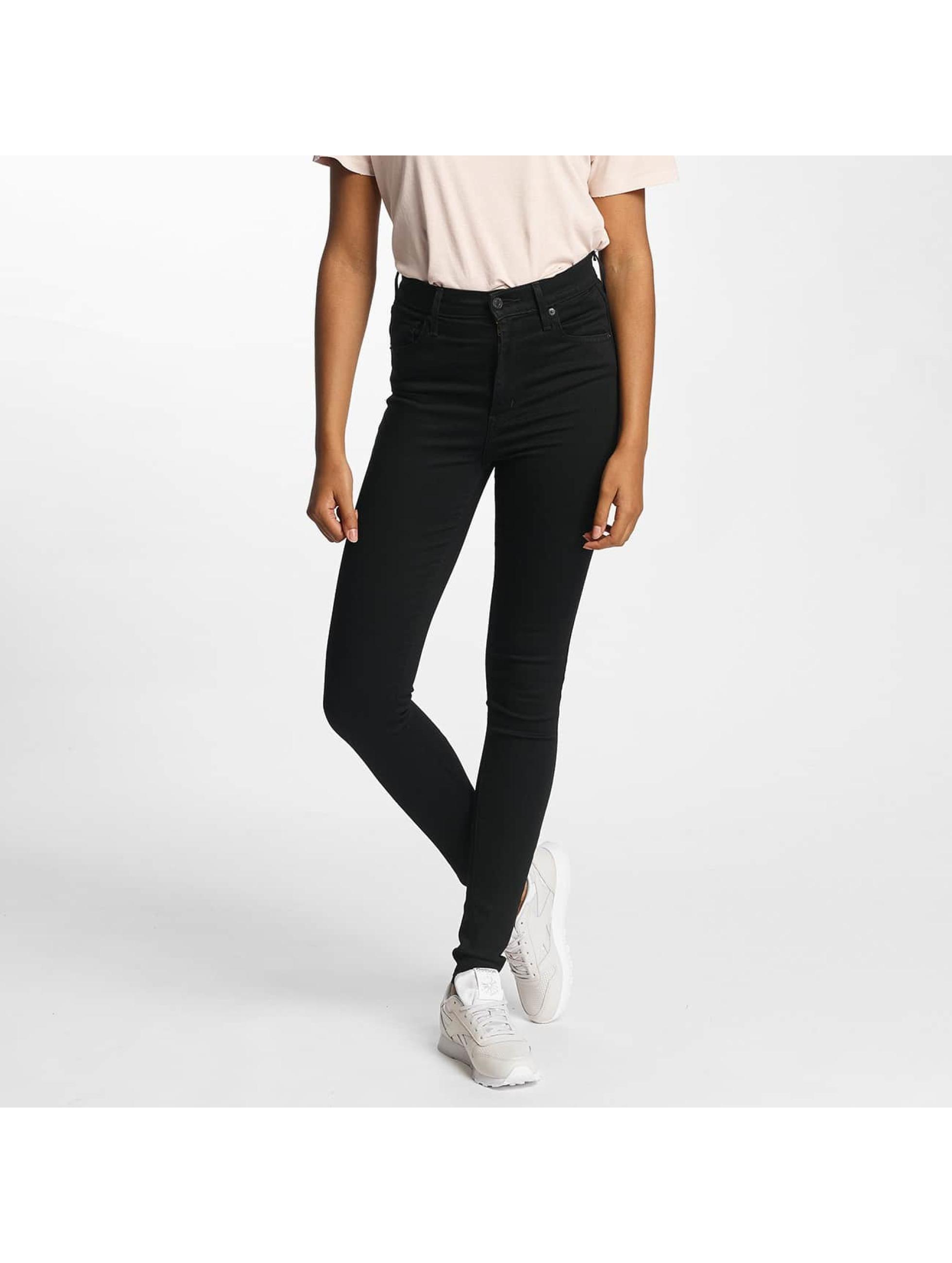 Levi´s® Frauen High Waist Jeans Mile High Super Skinny in schwarz