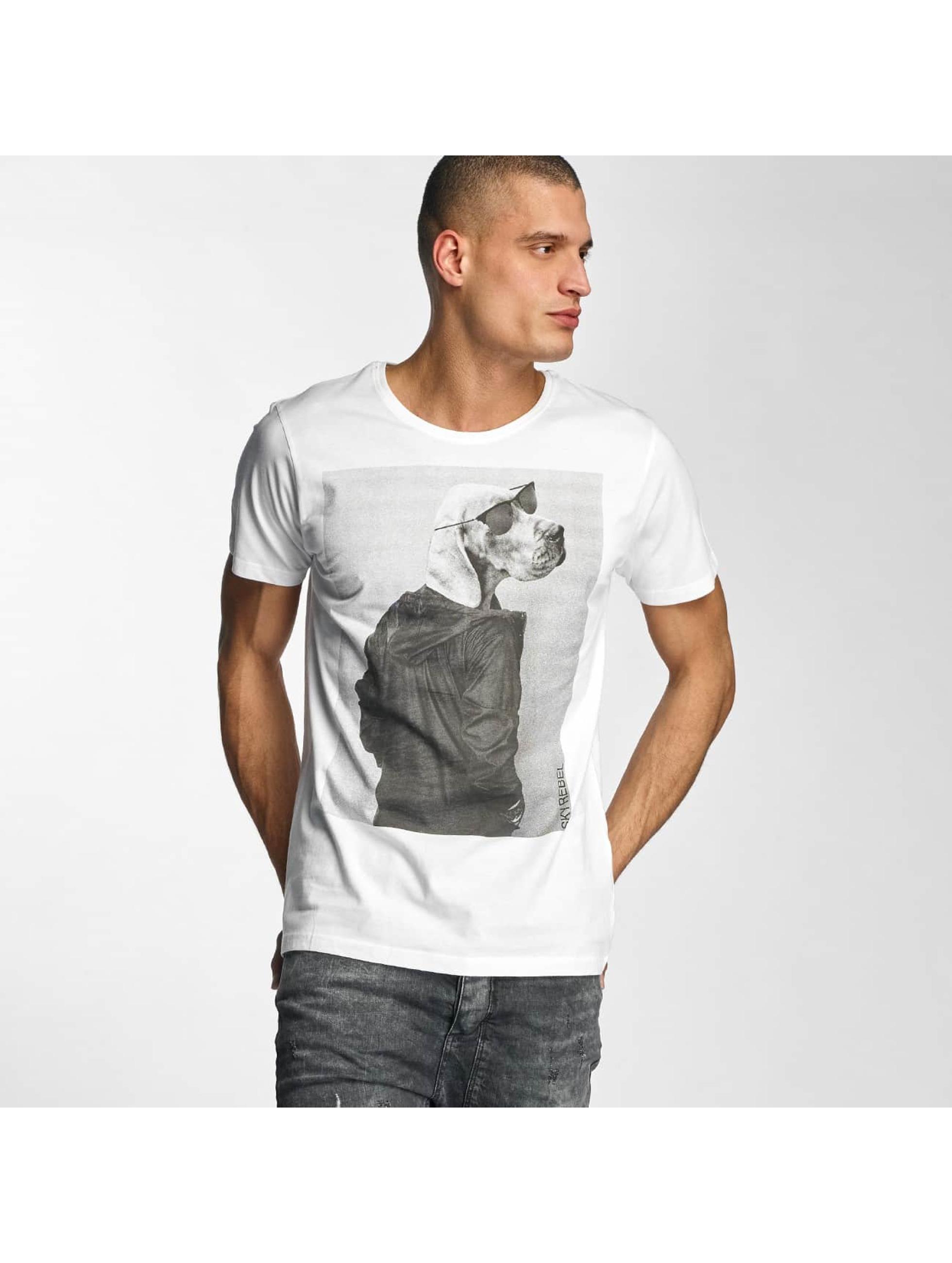 Sky Rebel Männer T-Shirt Oskar in weiß