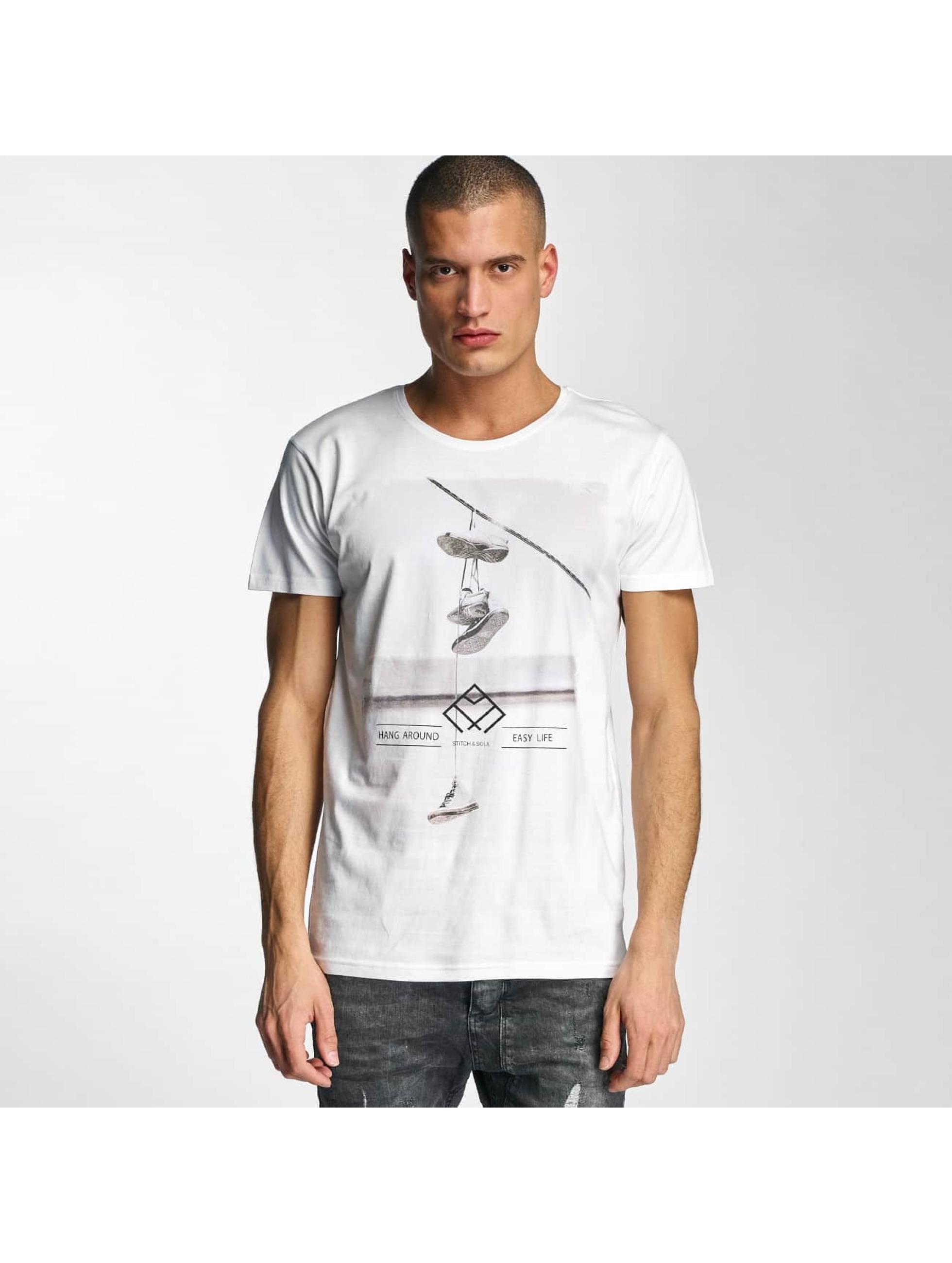 Stitch & Soul Männer T-Shirt Hang Aroun in weiß