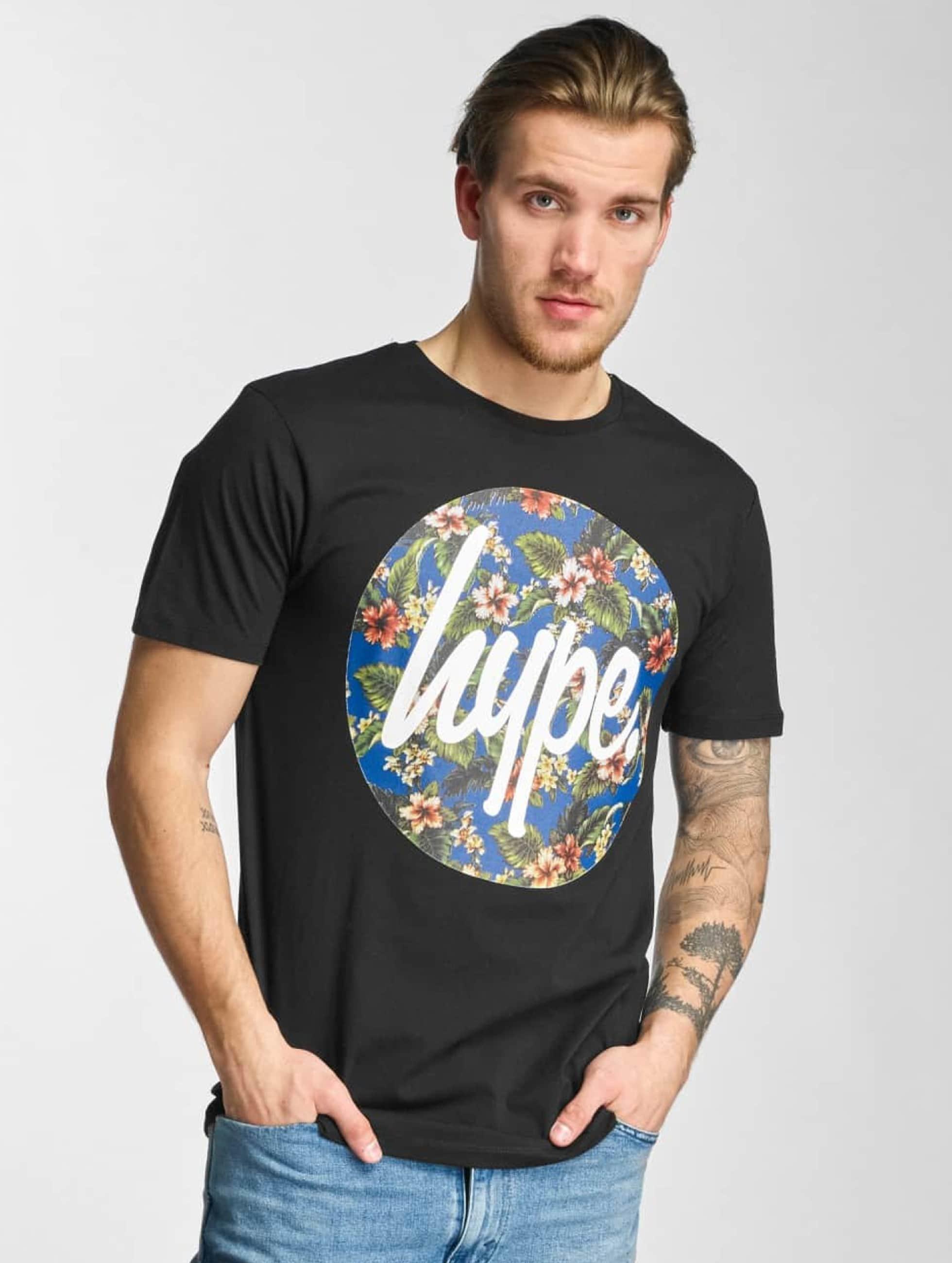 HYPE Männer T-Shirt Flower Circle in schwarz