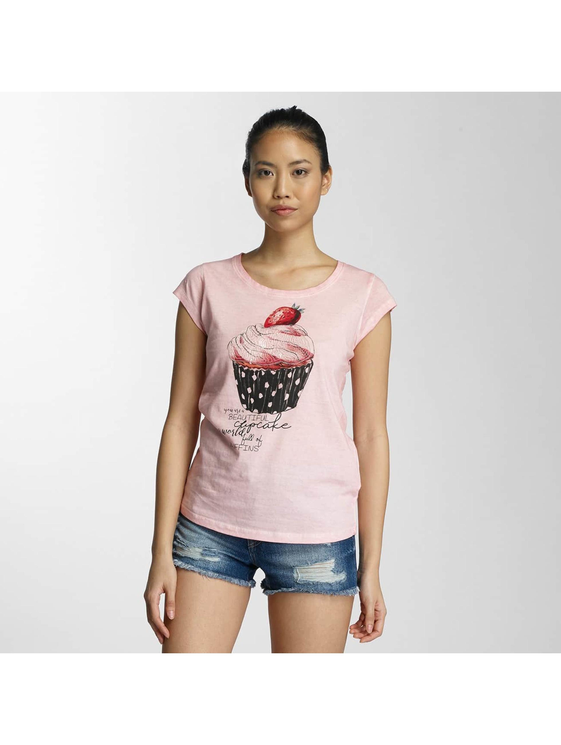 Fresh Made Frauen T-Shirt Muffin in rosa