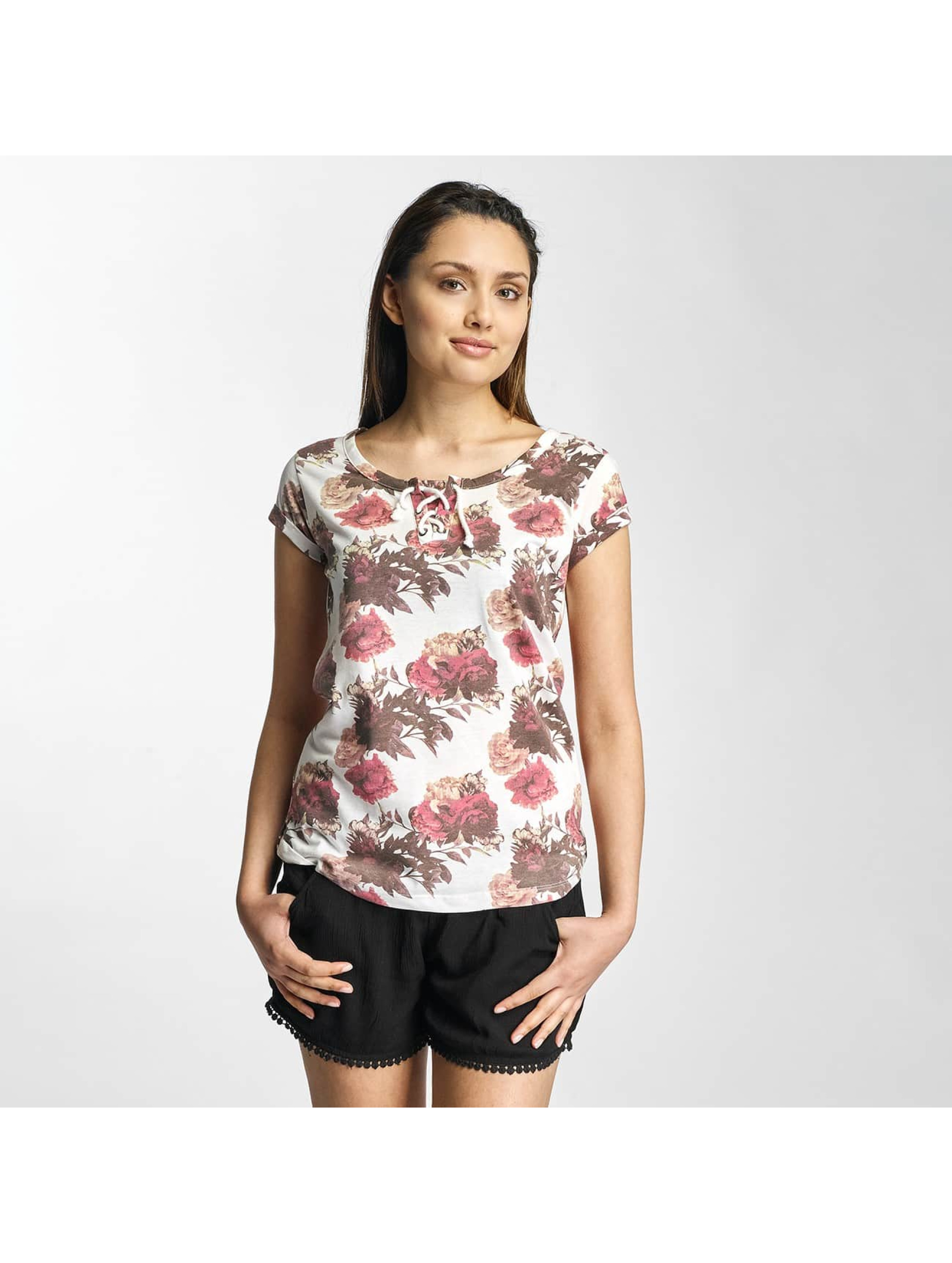 Sublevel Frauen T-Shirt Roses in weiß