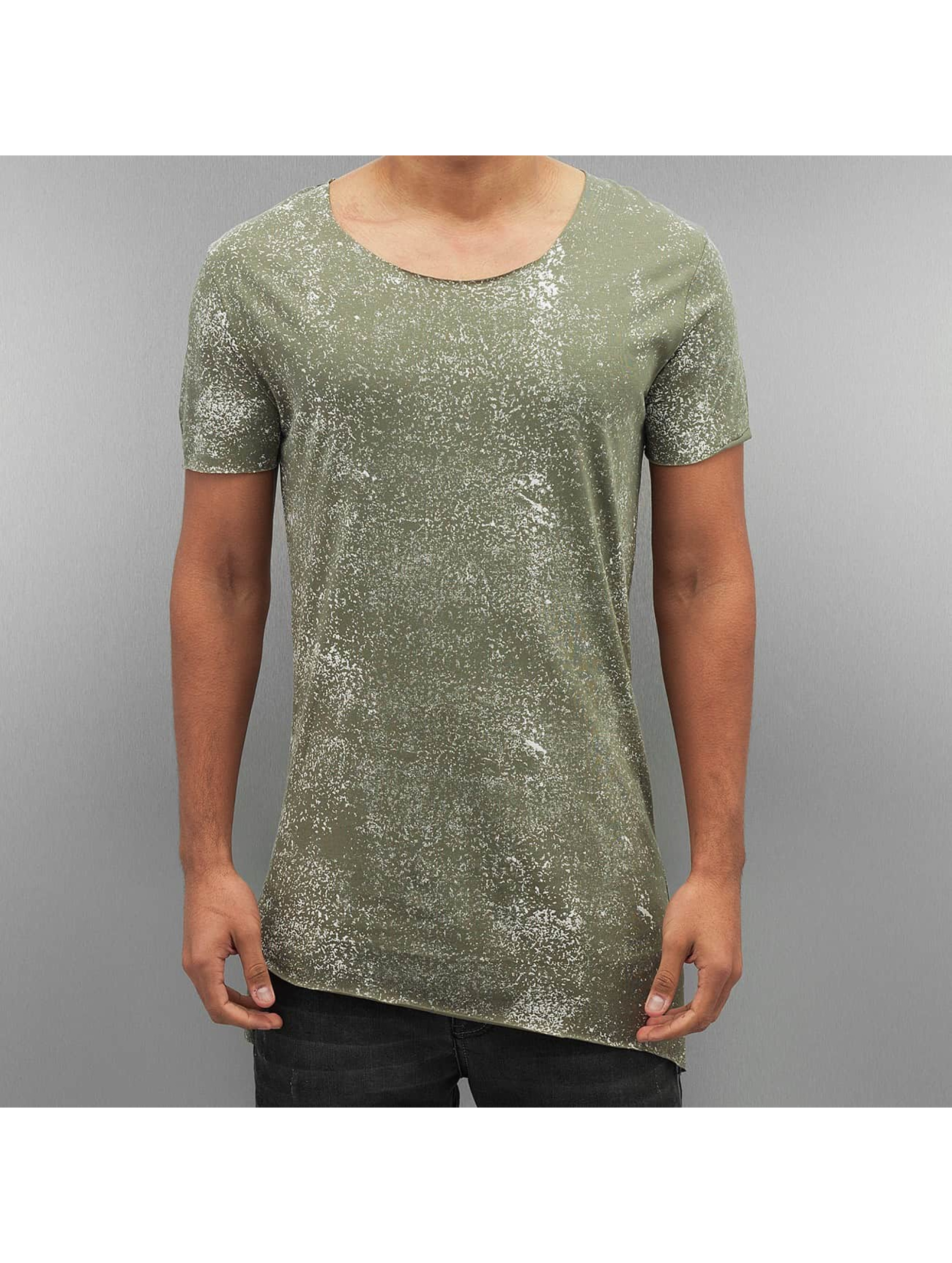 2Y Männer T-Shirt Color Blobs in khaki