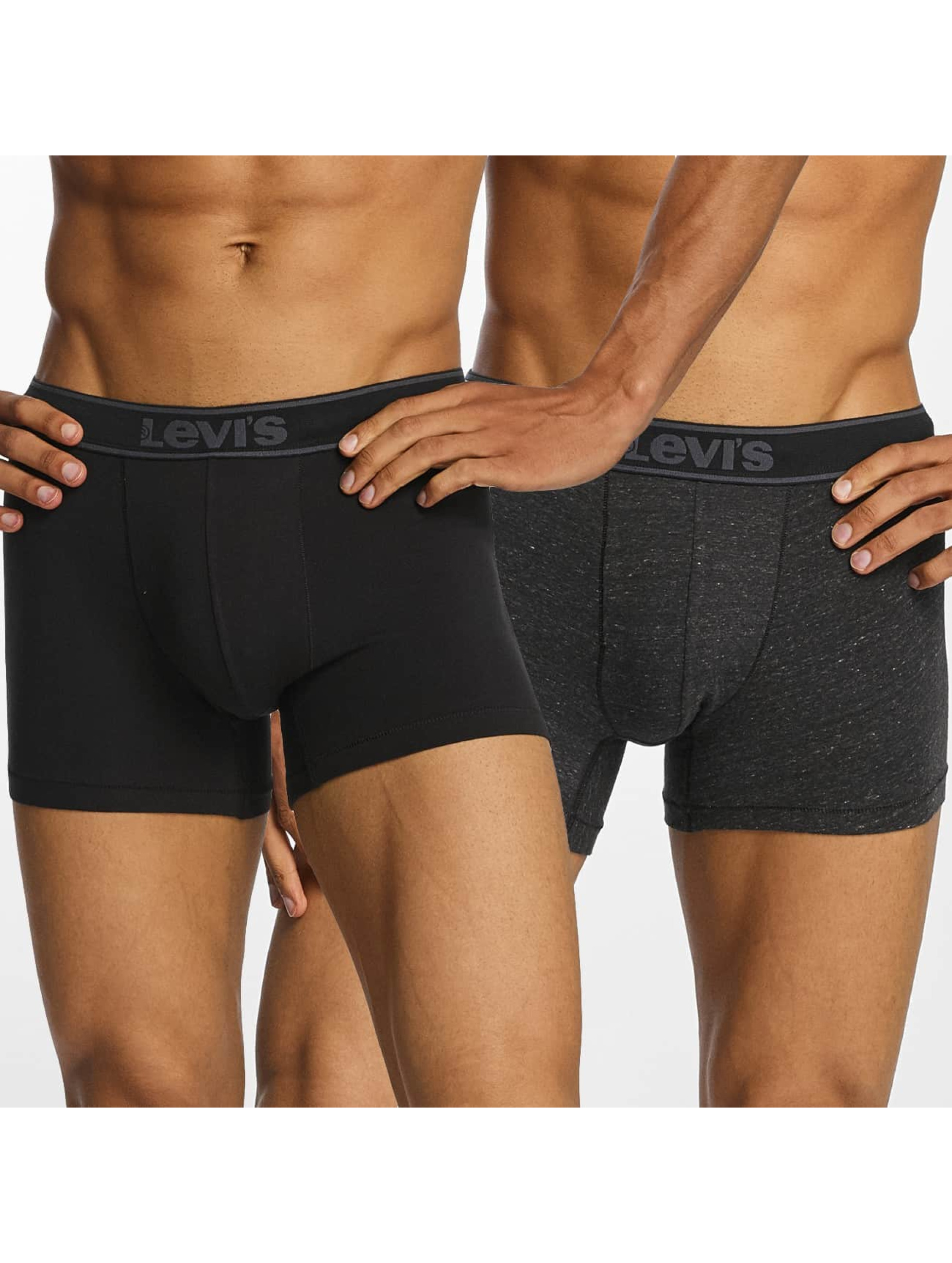 Levi´s® Männer Boxershorts Brief Vintage Heather 2-Pack in schwarz