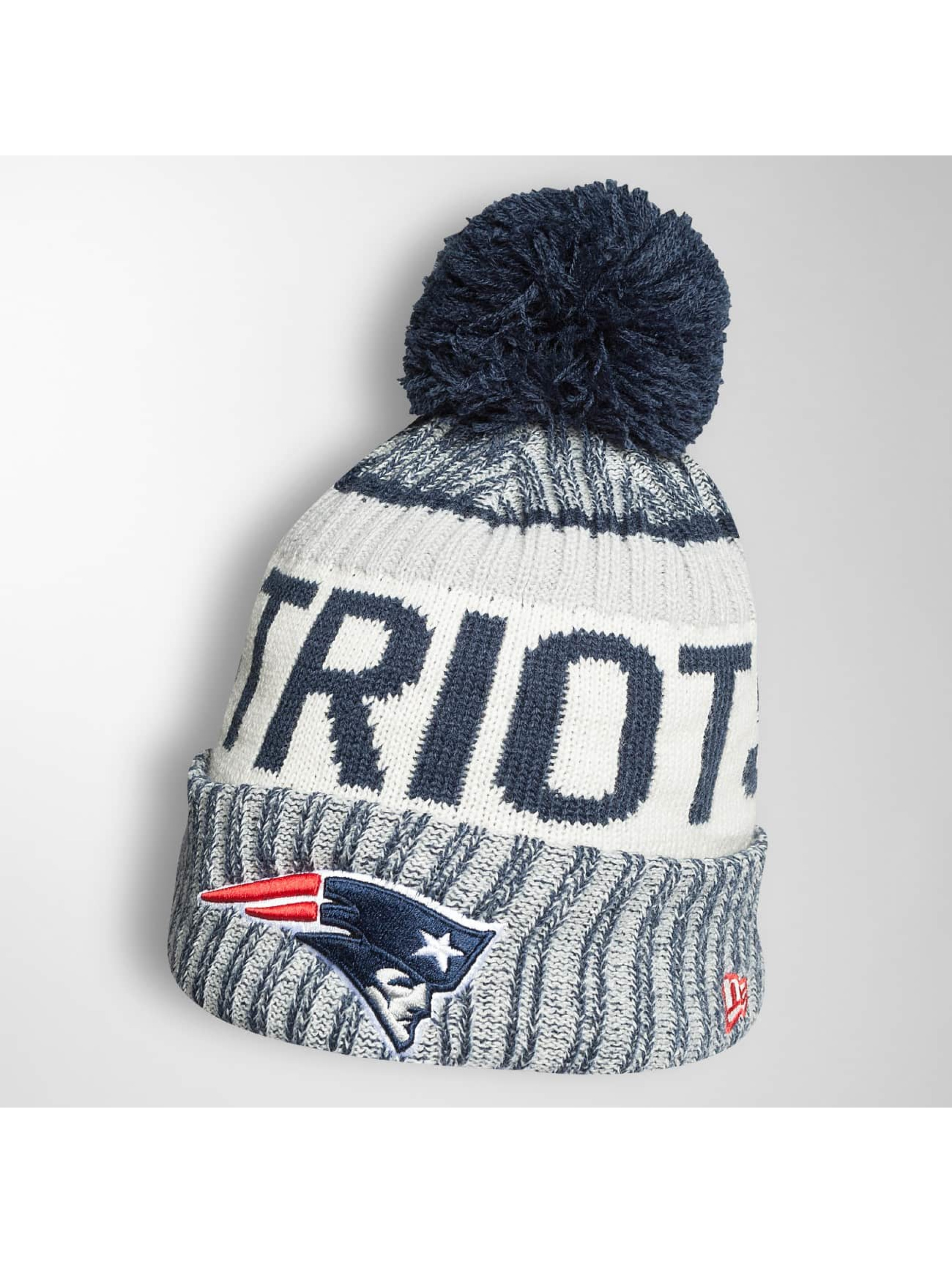 New Era Männer,Frauen Wintermütze On Fiel NFL Sport New England Patriots in blau
