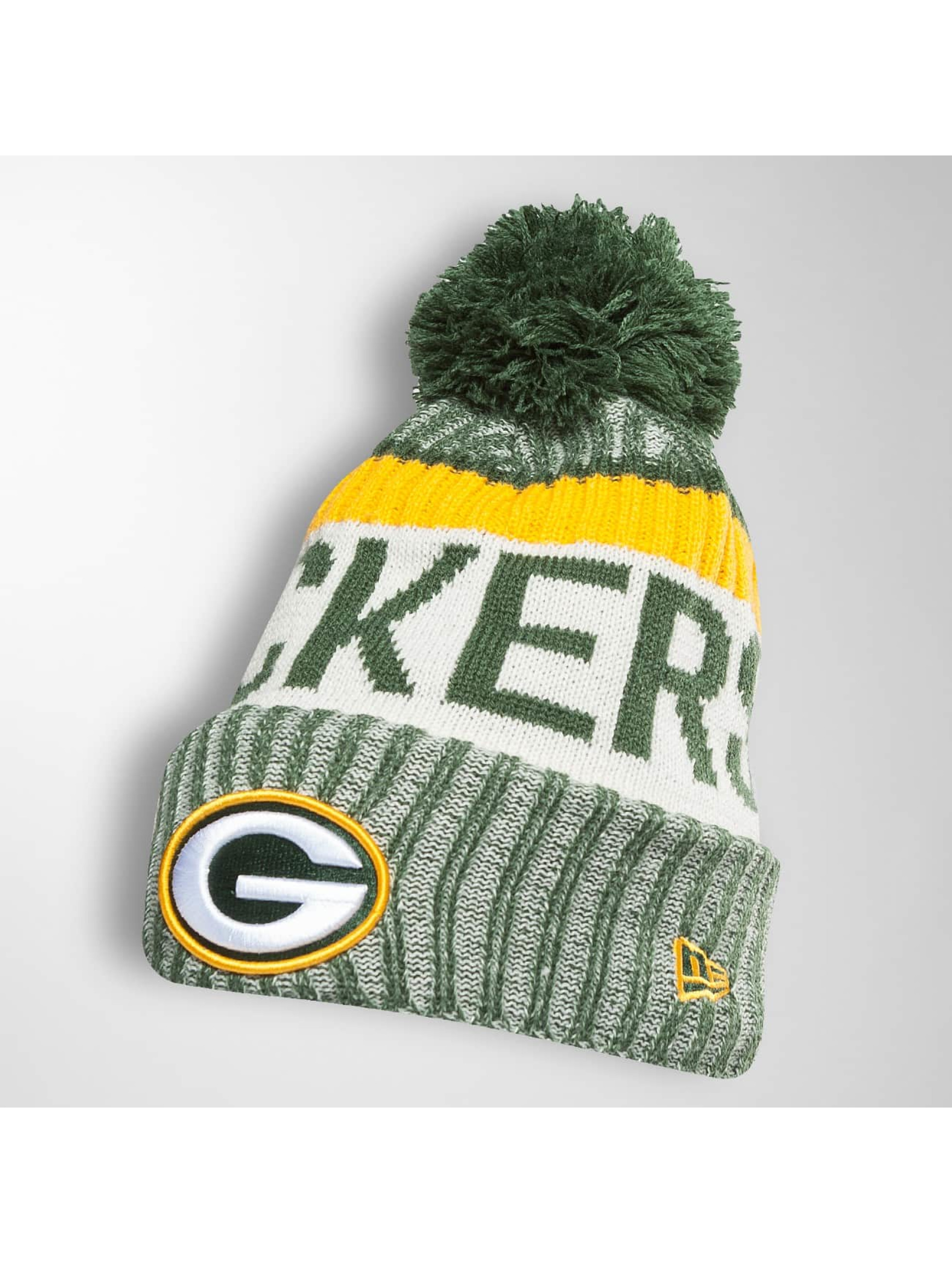 New Era Männer,Frauen Wintermütze On Fiel NFL Sport Green Bay Packers in grün