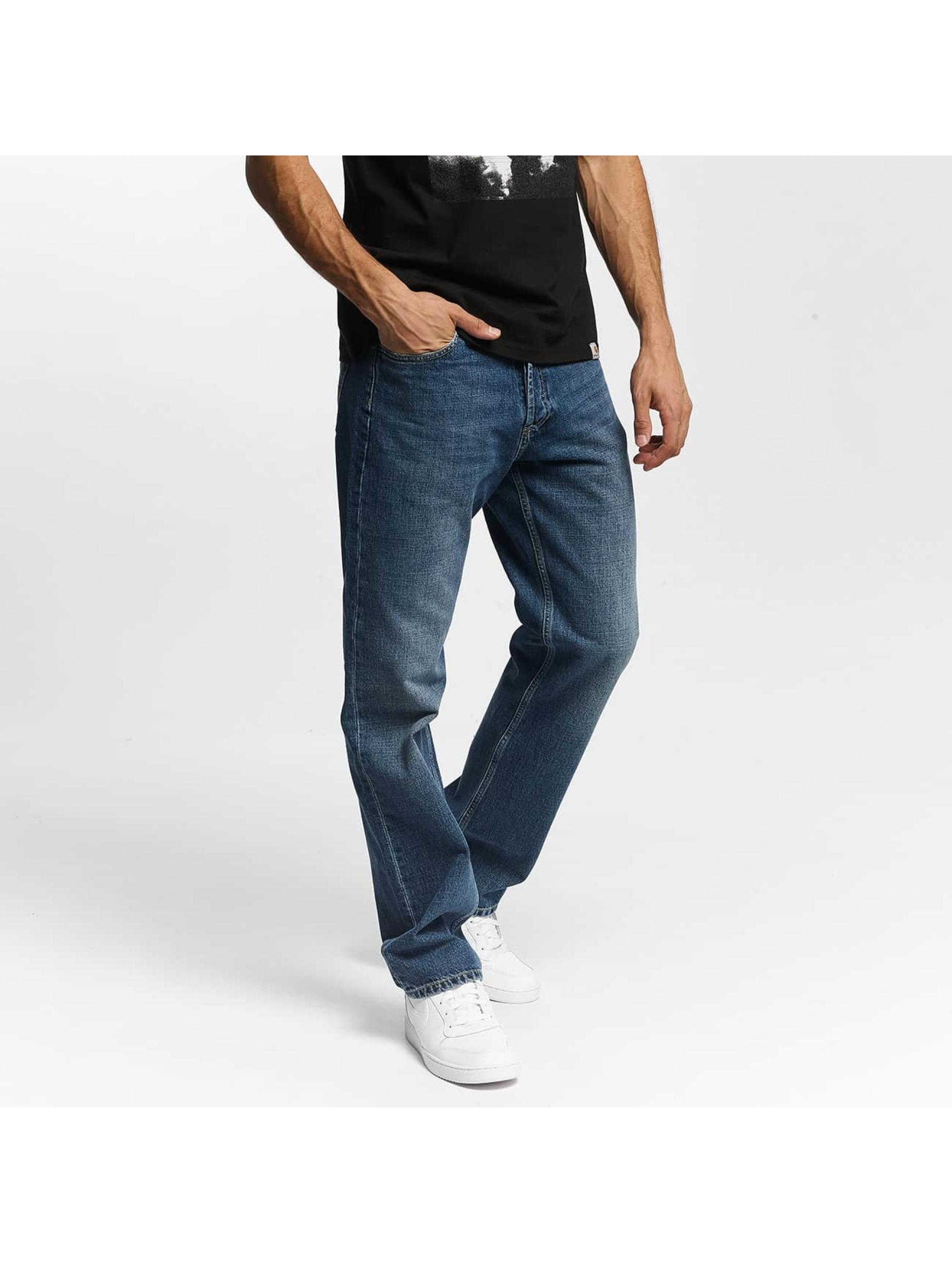 Carhartt WIP Männer Straight Fit Jeans Edgewood Marlow in blau