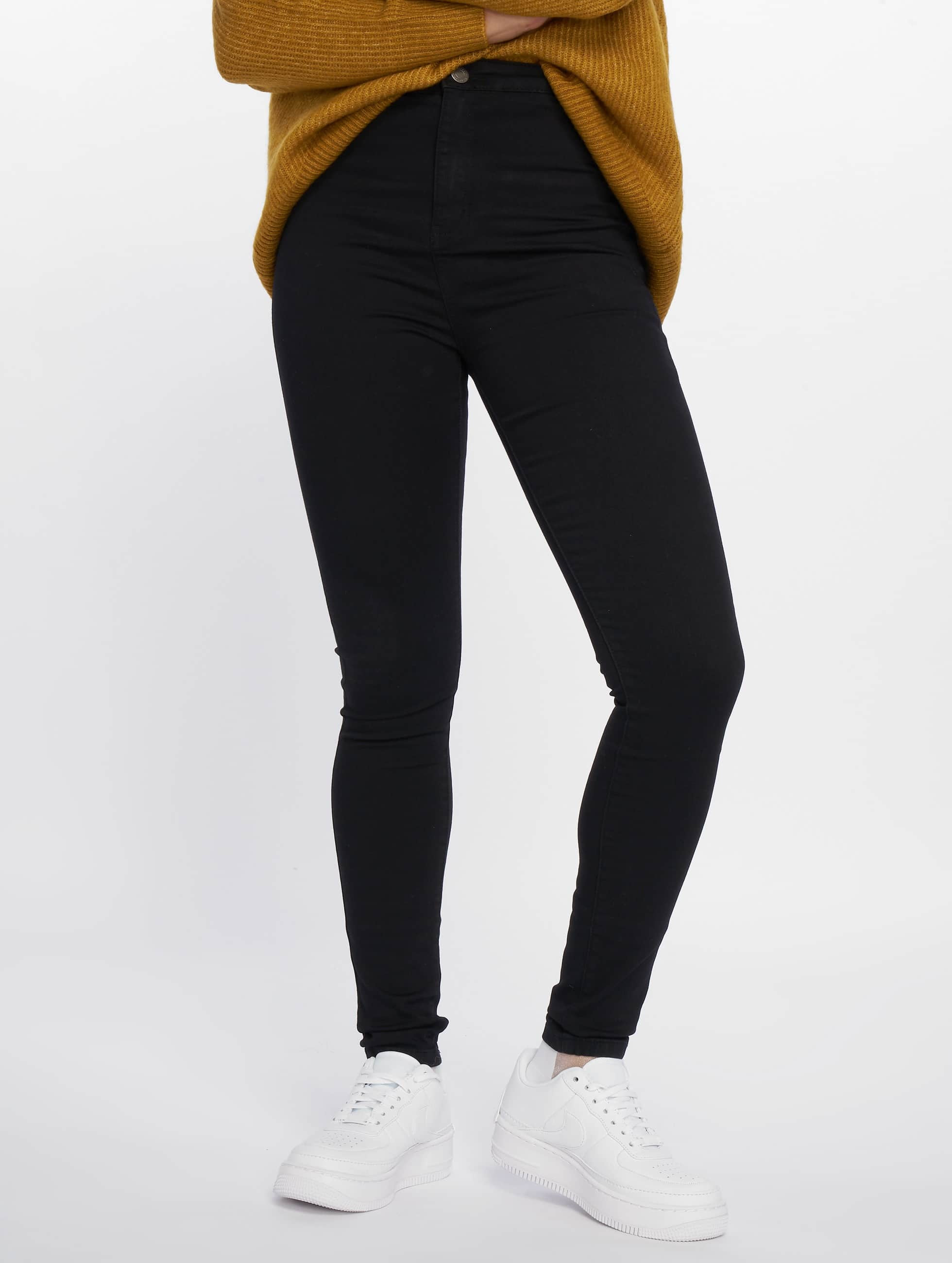 Noisy May Frauen High Waist Jeans nmEllaSuper High Waist in schwarz