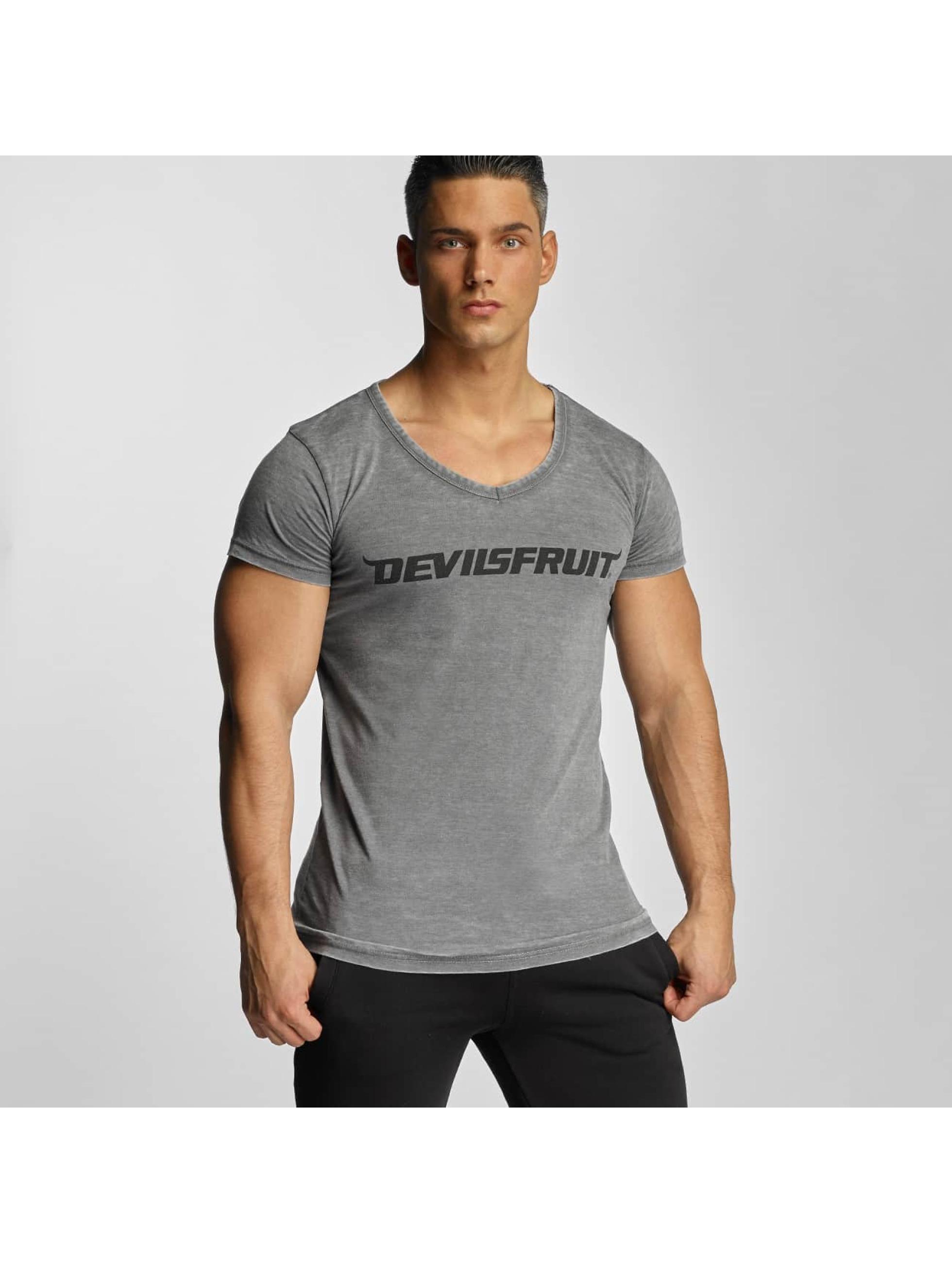 Devilsfruit Männer T-Shirt Basic in grau