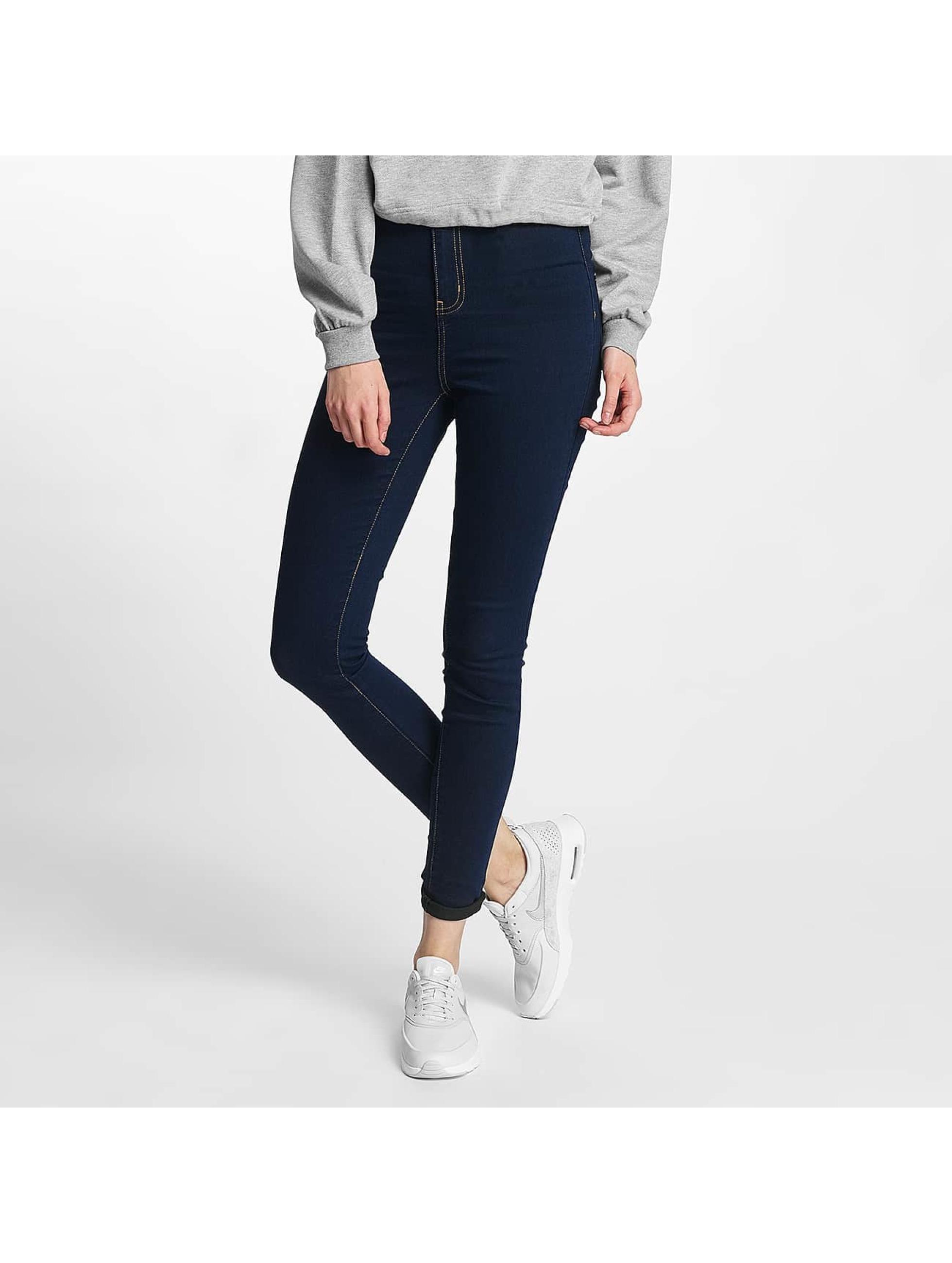 Noisy May Frauen High Waist Jeans nmElla Super High Waist in blau