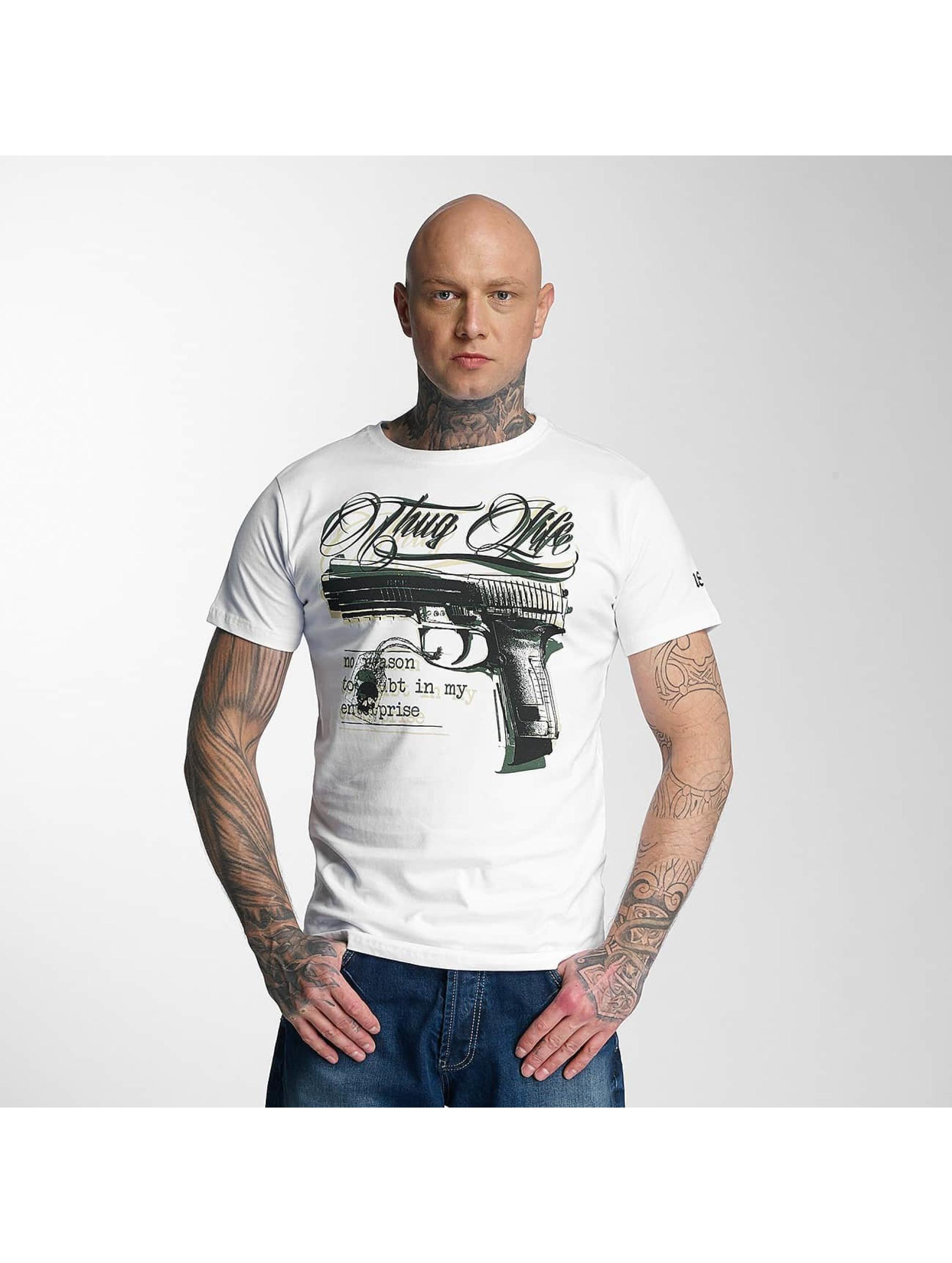 Thug Life / T-Shirt no reason in white XL