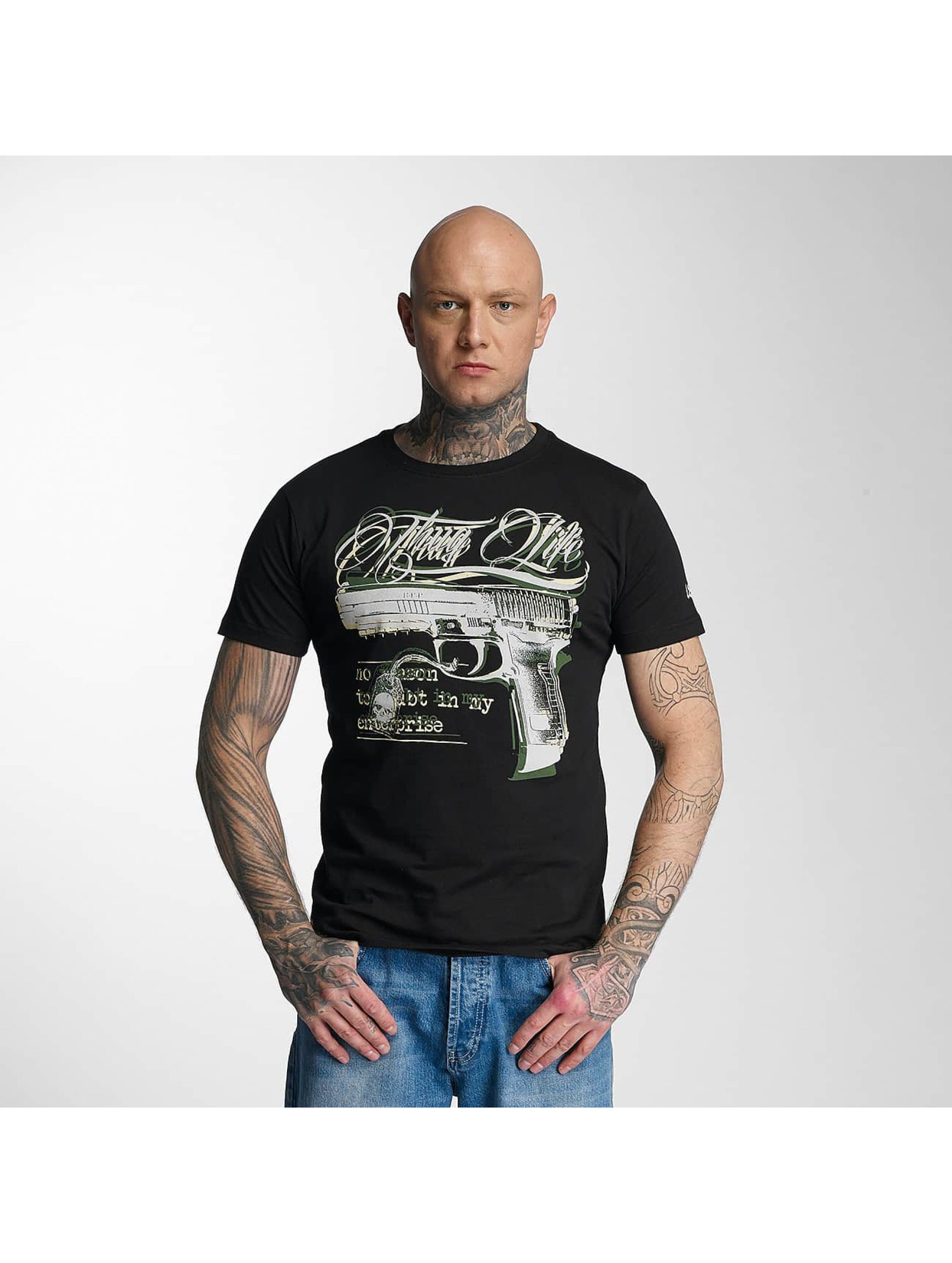 Thug Life Männer T-Shirt no reason in schwarz