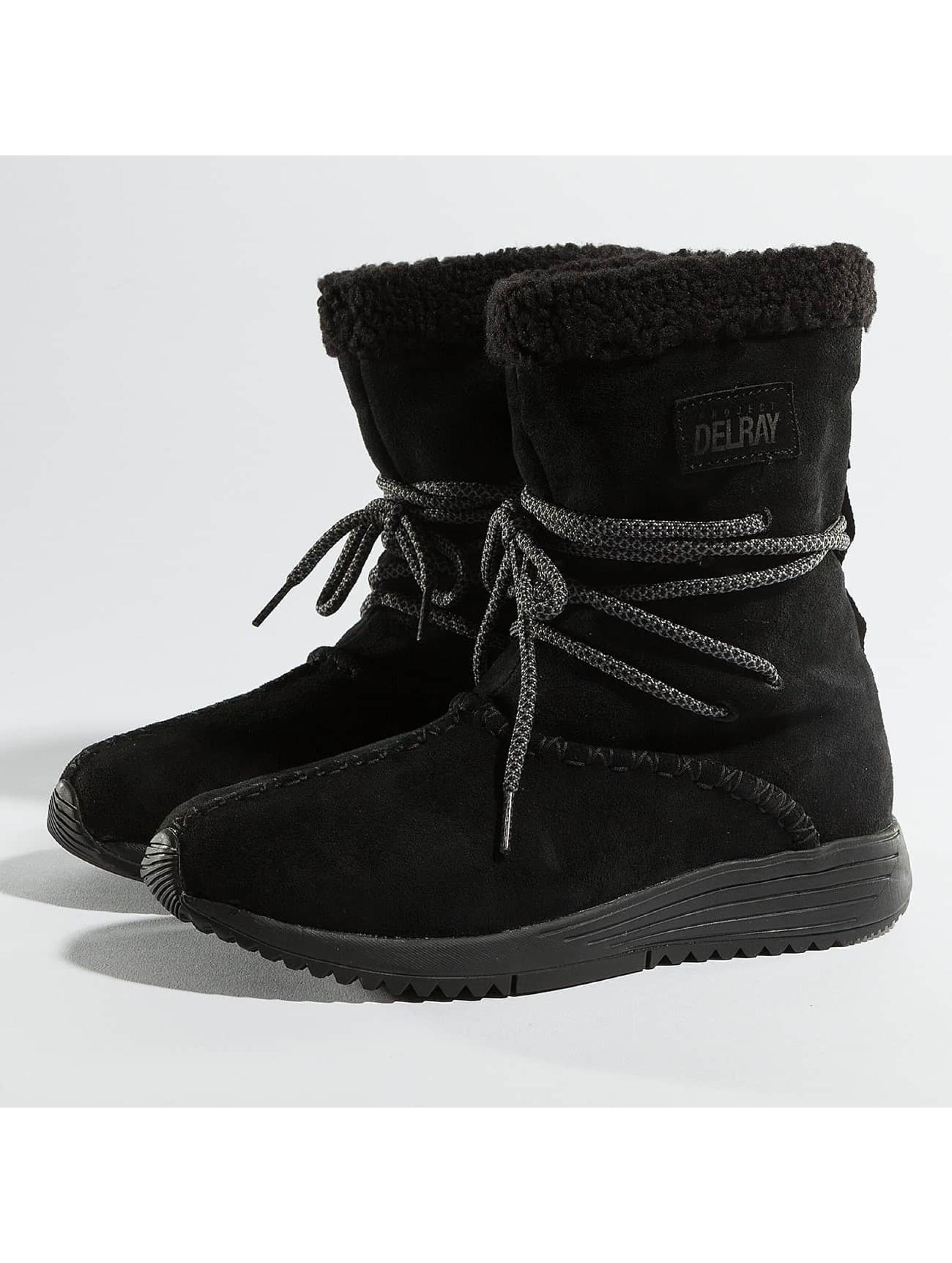 Project Delray Frauen Boots Wavy Lux High in schwarz